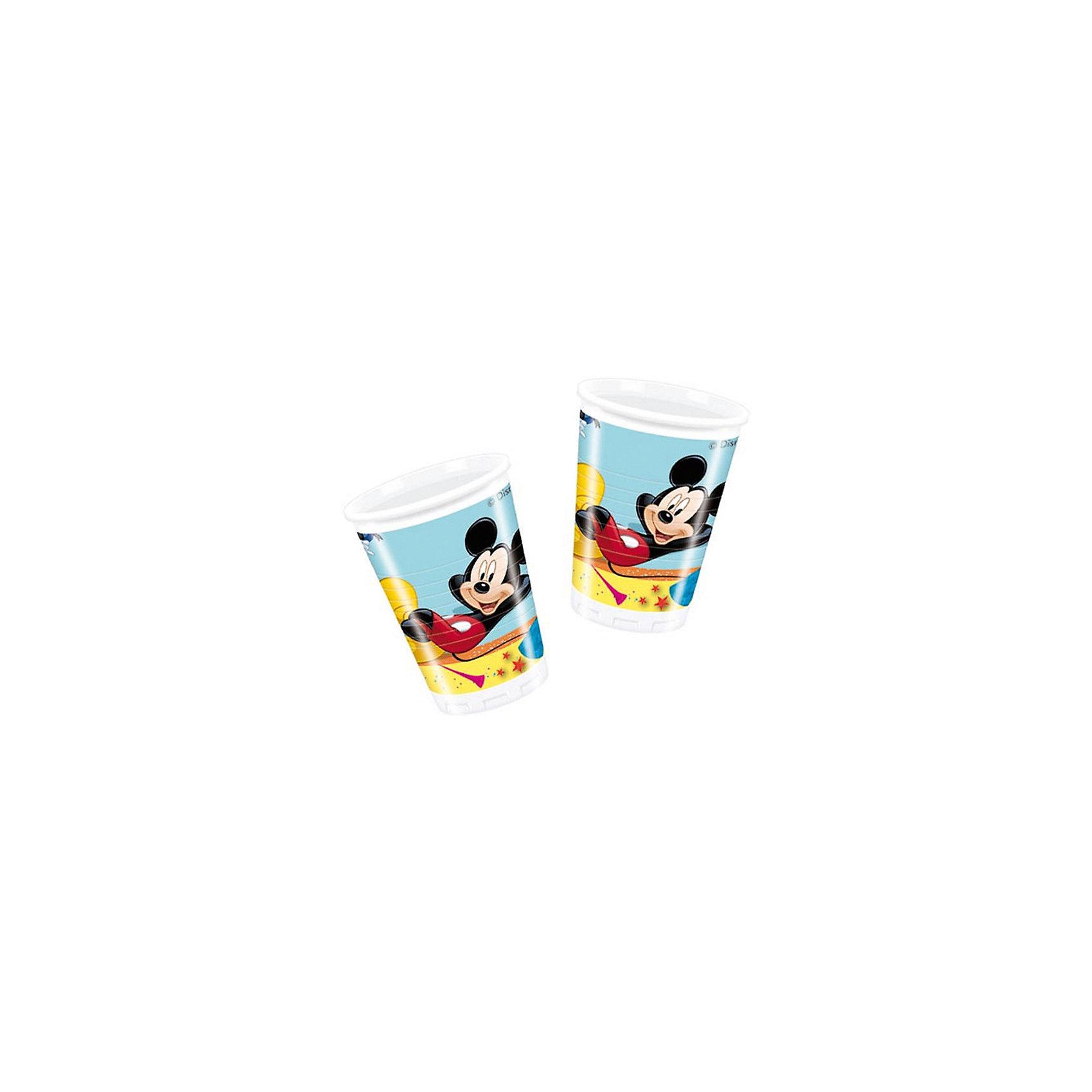 Procos Стаканы пластиковые Микки Маус на карнавале 180 мл, 10 шт. пластиковые лыжи без насечки цст 180