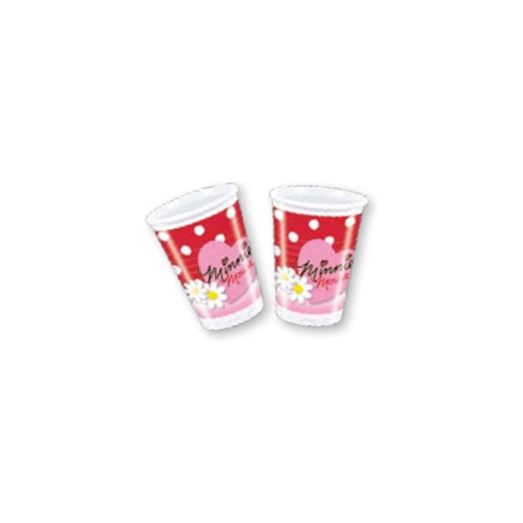 Procos Стаканы пластиковые Минни Mayc с маргаритками, 180 мл, 10 шт. пластиковые лыжи без насечки цст 180