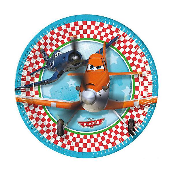 Тарелки Самолеты, 20 см, 8 шт.Тарелки<br>Тарелки Самолеты 20 см, 8 шт.<br>Еда и сладости на детском празднике покажутся еще вкуснее в тарелках с любимыми персонажами из мультфильма «Самолеты».  <br>Особенно радостно будет детям, которые мечтают летать на самолетах, хотят стать пилотами или просто любят всевозможную технику.  <br>В поставку входят 20 одноразовых тарелок диаметром 20 см с изображением персонажей мультфильма «Самолеты» («Planes») от Disney. Рекомендуется приобретать в комплекте со стаканами, салфетками и другой одноразовой посудой от Procos. Procos — лучший греческий производитель продукции для праздников и вечеринок. Гирлянда сделана из качественных и долговечных материалов <br><br><br>Дополнительная информация:<br><br>200х200х20 мм<br><br>Поднимет настроение всей компании Вашего малыша!<br>Легко приобрести в нашем интернет-магазине!<br>Ширина мм: 200; Глубина мм: 200; Высота мм: 20; Вес г: 140; Возраст от месяцев: 36; Возраст до месяцев: 84; Пол: Мужской; Возраст: Детский; SKU: 3360115;