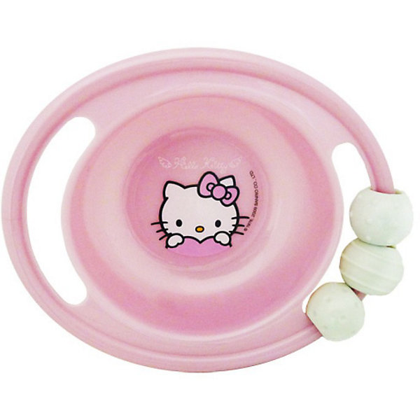 Миска-погремушка с резинкой против скольжения, Hello KittyДетская посуда<br>Произведено по лицензии Sanrio. <br><br>Миска-погремушка с резинкой против скольжения, Hello Kitty - это глубокая тарелка с изображением любимой героини. Миска изготовлена из пищевого пластика, который полностью безвреден для ребенка. У тарелки две удобные ручки. На одной из ручек прикреплена погремушка и резинка против скольжения.<br><br>Дополнительная информация:<br>- Диаметр тарелки составляет 20 см, глубина - 4.5 см<br>- Материал: пищевой пластик<br><br>Миску-погремушку с резинкой против скольжения, Hello Kitty можно купить в нашем магазине.<br>Ширина мм: 165; Глубина мм: 140; Высота мм: 50; Вес г: 119; Возраст от месяцев: 0; Возраст до месяцев: 36; Пол: Женский; Возраст: Детский; SKU: 3360699;