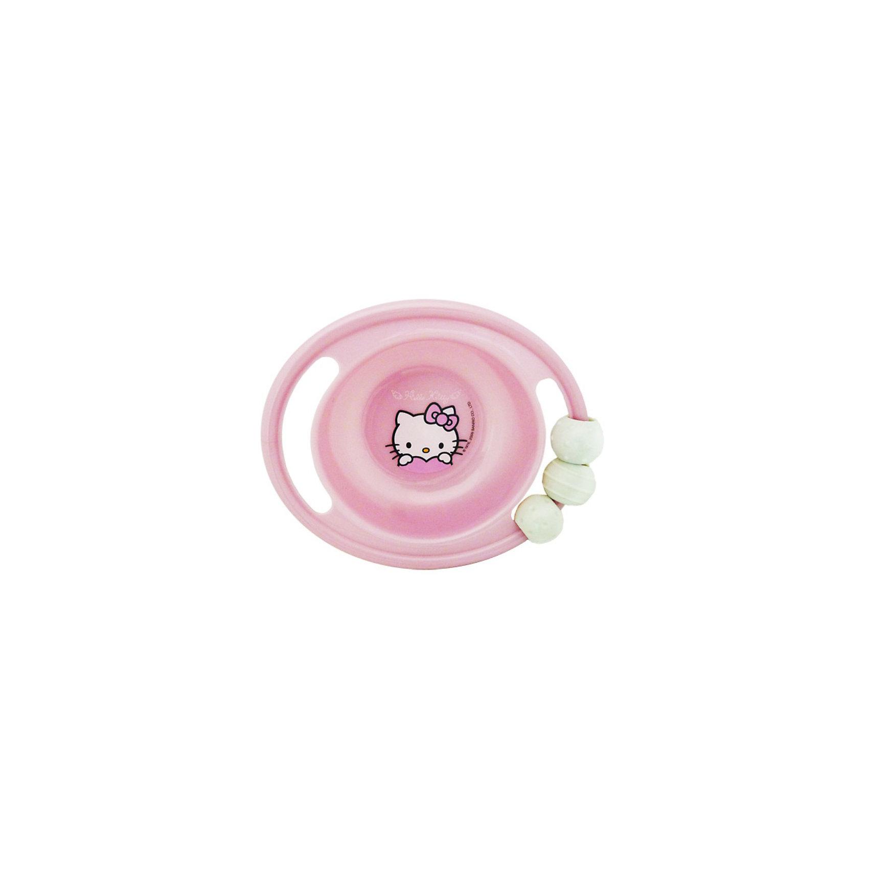 Миска-погремушка с резинкой против скольжения, Hello KittyПроизведено по лицензии Sanrio. <br><br>Миска-погремушка с резинкой против скольжения, Hello Kitty - это глубокая тарелка с изображением любимой героини. Миска изготовлена из пищевого пластика, который полностью безвреден для ребенка. У тарелки две удобные ручки. На одной из ручек прикреплена погремушка и резинка против скольжения.<br><br>Дополнительная информация:<br>- Диаметр тарелки составляет 20 см, глубина - 4.5 см<br>- Материал: пищевой пластик<br><br>Миску-погремушку с резинкой против скольжения, Hello Kitty можно купить в нашем магазине.<br><br>Ширина мм: 165<br>Глубина мм: 140<br>Высота мм: 50<br>Вес г: 119<br>Возраст от месяцев: 0<br>Возраст до месяцев: 36<br>Пол: Женский<br>Возраст: Детский<br>SKU: 3360699