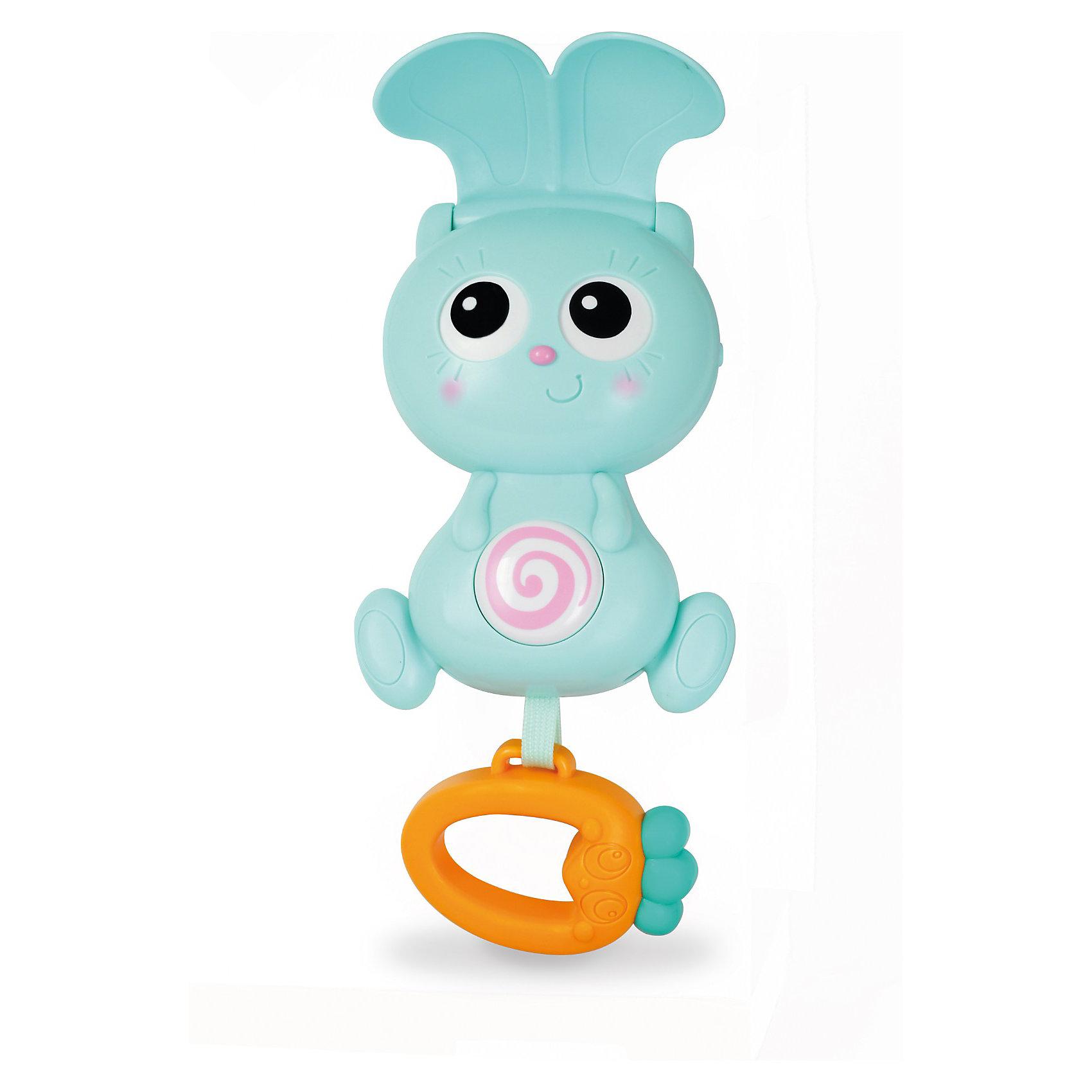 Бани панель на кроватку, OuapsУшки и кролика могут закрываться, а глазки и животик медленно крутятся под музыку. Лапки кролика двигаются. Игрушка начинает работать при нажатии на прорезыватель в виде морковки.<br>В комплекте прилагаются несколько забавных мелодий, общей продолжительностью 15 минут.<br><br>Дополнительная информация:<br><br>- материал: пластик <br>- цвет: бирюзовый, оранжевый<br>- размеры упаковки: 18 x 30.5 x 9.5 см.<br>- вес: 550 гр.<br>- тип питания: батарейки 3 шт. ААА (в комплекте).<br>- панель легко крепится к бортику кроватки или к ручке коляски при помощи мягкой пластиковой ленты<br><br>Бани панель на кроватку от Ouaps можно купить в нашем интернет-магазине.<br><br>Ширина мм: 100<br>Глубина мм: 180<br>Высота мм: 300<br>Вес г: 550<br>Возраст от месяцев: 3<br>Возраст до месяцев: 144<br>Пол: Унисекс<br>Возраст: Детский<br>SKU: 3360856