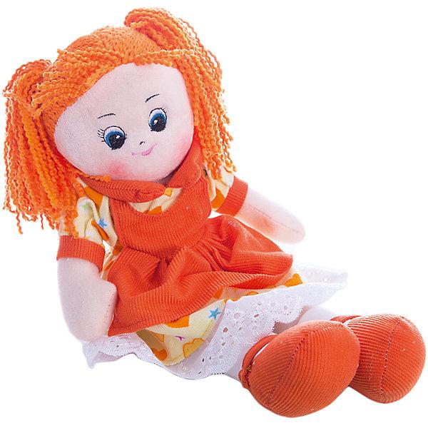 Кукла в платье с сердечками Апельсинка, 40 см, GulliverБренды кукол<br>Эта рыжеволосая Апельсинка в ярком оранжевом платье от бренда Gulliver будет рада подружиться с Вашей малышкой и доставит ей много радости!<br><br>Куколка изготовлена из гипоаллергенного синтепона и высококачественного велюра, очень приятного на ощупь. Все материалы абсолютно безопасны для здоровья Вашего ребенка.<br><br>Игрушка не деформируется и не теряет внешний вид при машинной стирке.<br><br>Кукла в платье с сердечками Апельсинка от Gulliver станет прекрасным подарком для Вашей девочки!<br><br>Дополнительная информация:<br><br>- Высота куклы: 40 см<br>- Вес: 0,156 кг<br>- Материал: высококачественный плюш и гипоаллергенный синтепон<br>- Подходит для деликатной машинной стирки<br><br>Куклу Апельсинку от Gulliver легко купить в нашем интернет-магазине.<br><br>Ширина мм: 150<br>Глубина мм: 390<br>Высота мм: 80<br>Вес г: 312<br>Возраст от месяцев: 24<br>Возраст до месяцев: 84<br>Пол: Женский<br>Возраст: Детский<br>SKU: 3360866