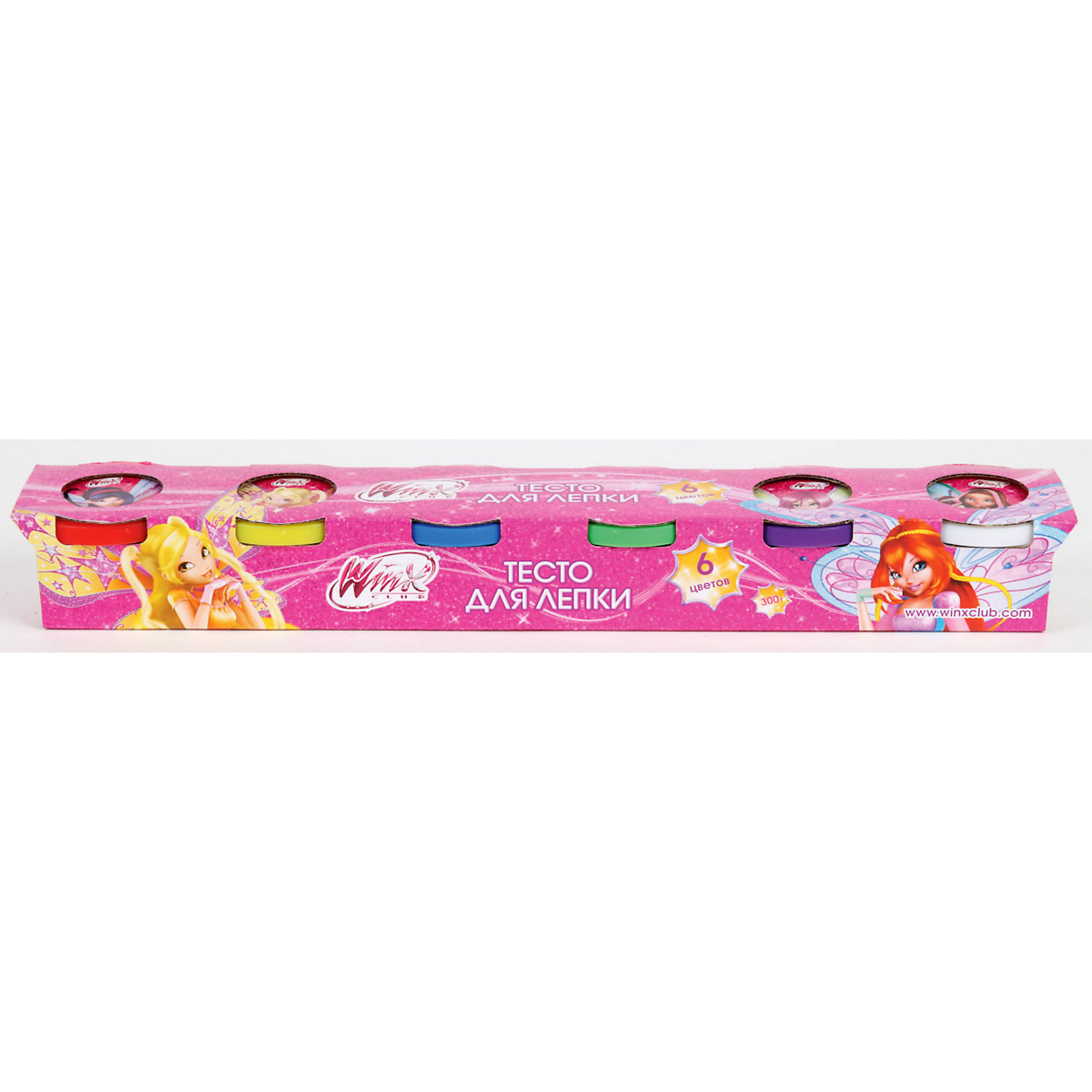 Умка Тесто для лепки,  Winx Club, 6 цветов наборы для лепки играем вместе масса для лепки winx украшения кольца