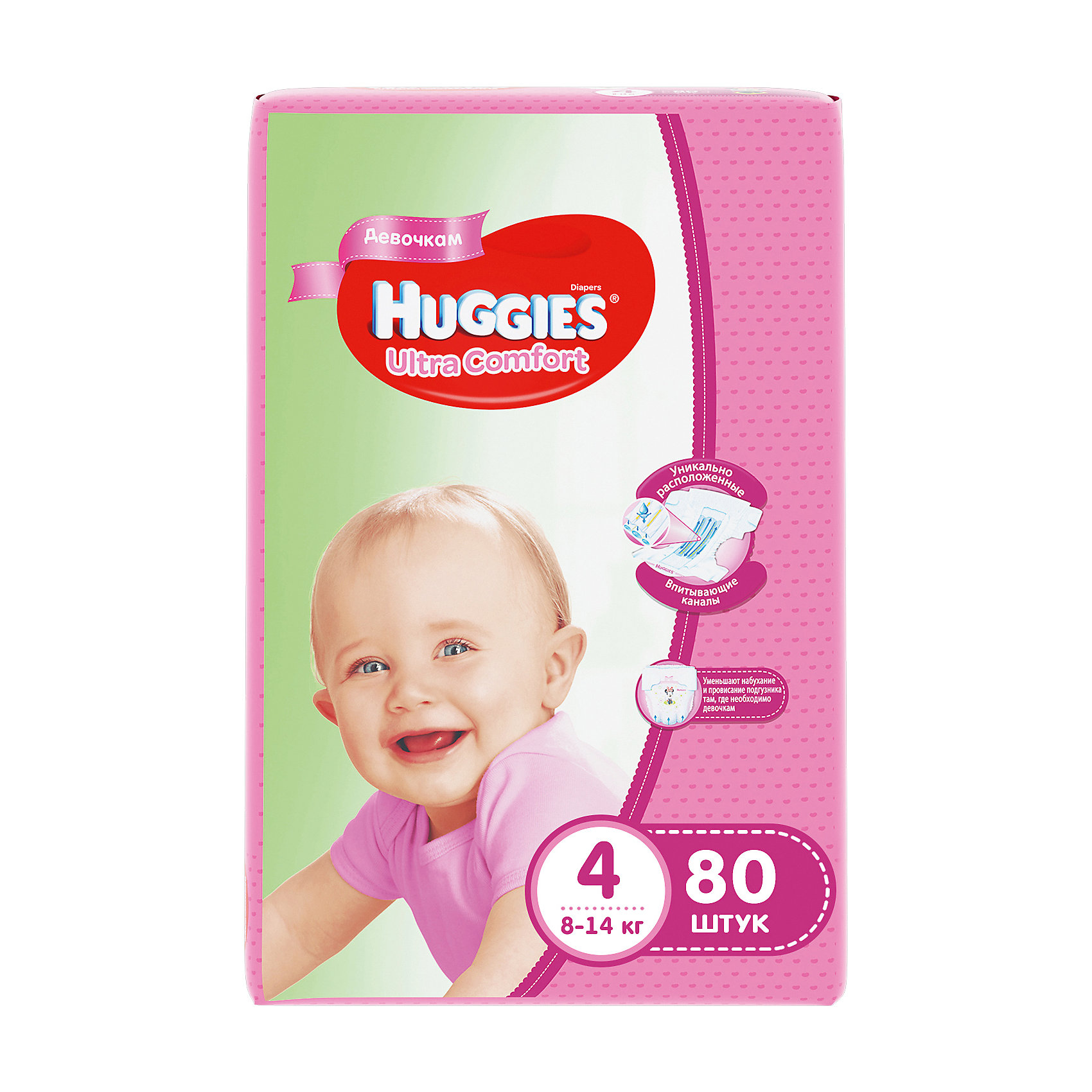���������� Huggies Ultra Comfort ��� ������� Giga Pack (4) 8-14 ��, 80 ��. (HUGGIES)
