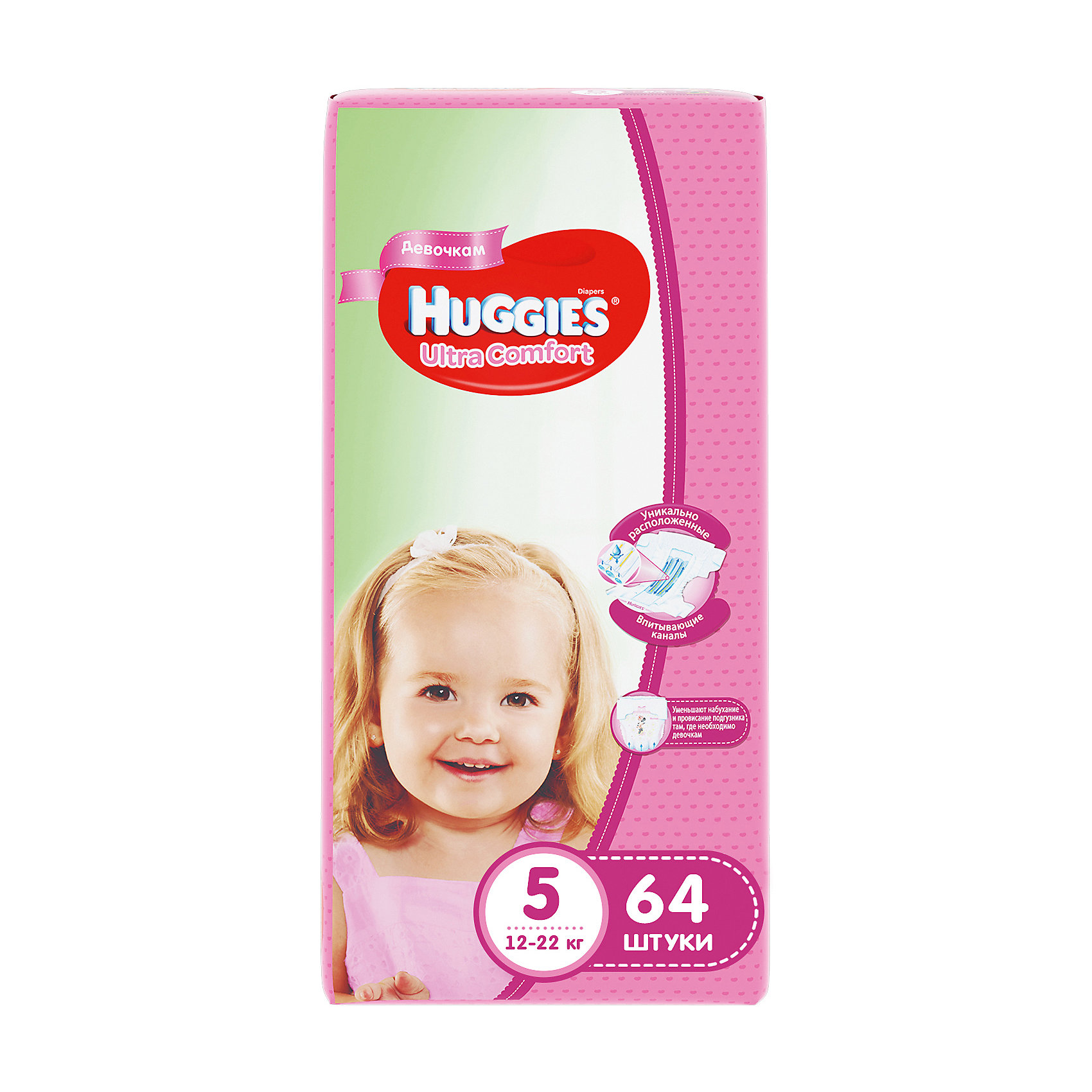 ���������� Huggies Ultra Comfort ��� ������� Giga Pack (5) 12-22 ��, 64 ��. (HUGGIES)