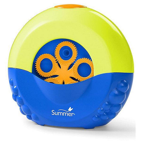 Игрушка для ванной для выдувания мыльных пузырей Summer Infant Bubble Maker, в ассорт.Мыльные пузыри<br>Устройство для выдувания мыльных пузырей Bubble Maker от Summer Infant с присосками на задней панели. Одно нажатие пальчиком – и мыльные пузыри наполняют ванную комнату и делают купание увлекательным и веселым занятием. Устройство крепится на присосках.<br><br>Дополнительная информация:<br><br>- Работает от 4 батареек типа AA (в комплект не входят).<br>- В комплект входит бутылочка с мыльным раствором, который не щиплет глазки.<br>- Размеры упаковки: 19 х 20 х 12 см<br><br>ВНИМАНИЕ! Данный артикул имеется в наличии в разных цветовых исполнениях (бело-голубой, салатово-синий). К сожалению, заранее выбрать определенный цвет невозможно.<br><br>Игрушку для ванной для выдувания мыльных пузырей Summer Infant Bubble Maker, в ассорт. можно купить в нашем магазине.<br><br>Ширина мм: 19<br>Глубина мм: 20<br>Высота мм: 12<br>Вес г: 680<br>Возраст от месяцев: 12<br>Возраст до месяцев: 84<br>Пол: Унисекс<br>Возраст: Детский<br>SKU: 3361782