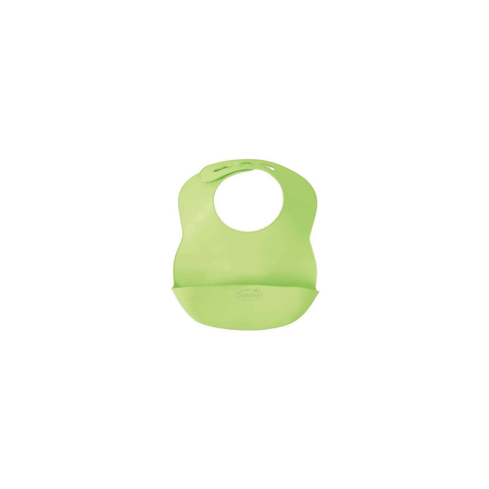 Детский нагрудник Summer Infant Bibbity, зеленый.Нагрудники и салфетки<br>Нагрудник Bibbity специально создан, чтобы собирать крошки и остатки еды малыша, защищая его одежду от пятен.<br>Сделан из мягкого гибкого материала, чтобы малышу было максимально комфортно его носить.<br>Мягкие контуры воротничка легко регулируются на шее ребенка.<br>Удобно брать на прогулки, нагрудник занимает мало место в сумке, можно сворачивать.<br>Легко протирается, не нужно застирывать.<br>Не содержит бисфинола А, свинца, винила, фталатов и латекса.<br>Нагрудник Bibbity можно купить в нашем интернет-магазине.<br><br>Ширина мм: 30<br>Глубина мм: 220<br>Высота мм: 260<br>Вес г: 145<br>Возраст от месяцев: 6<br>Возраст до месяцев: 36<br>Пол: Унисекс<br>Возраст: Детский<br>SKU: 3361788