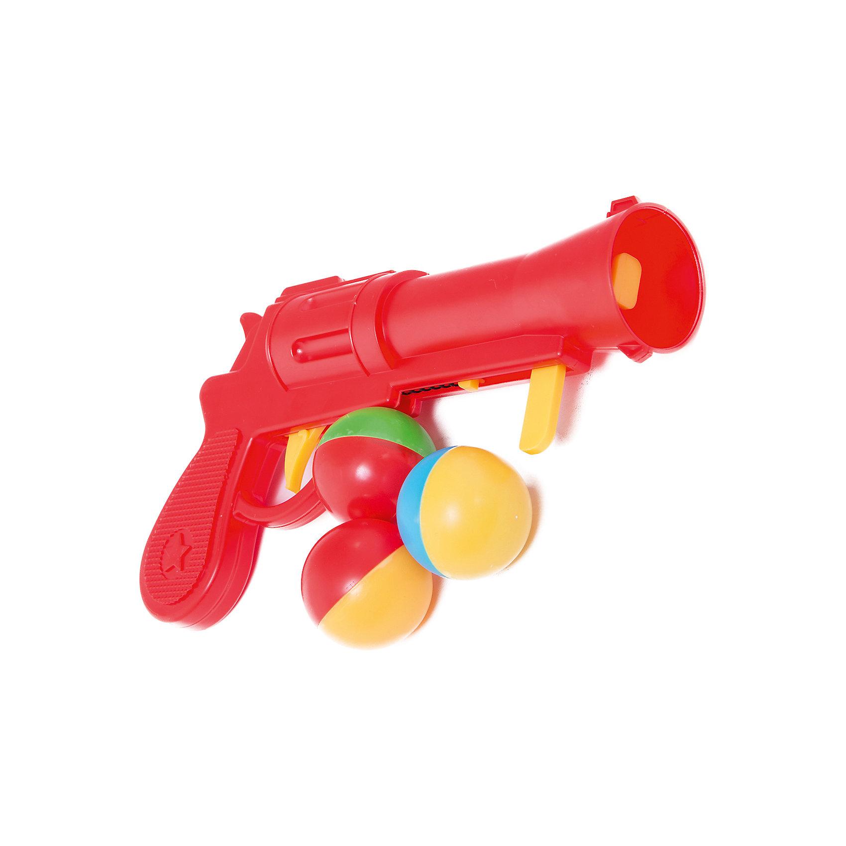 Пистолет пластмассовый с шариками, СтелларПистолет пластмассовый с шариками, Стеллар (Stellar).<br><br>Детский игрушечный пистолет стреляет на небольшое расстояние крупными яркими шариками, так что их легко можно будет найти. Чтобы выстрелить, нужно взвести пружину и зарядить пистолет шариком. Шарики большого диаметра, поэтому менее травматичны, но все-таки, необходимо соблюдать меры предосторожности во время детских игр!<br><br>Пистолет Стеллар станет прекрасным подарком юному герою!<br><br>Дополнительная информация:<br><br>- В комплекте: пистолет, 3 разноцветных шарика <br>- Длина пистолета 22 см.<br>- Диаметр шариков:  4 см.<br>- Материал: пластмасса<br>- Размер упаковки: 310 х 40 х 150 мм<br>- Вес: 85 г.<br><br>Пистолет пластмассовый с шариками, Стеллар (Stellar) можно купить в нашем интернет-магазине.<br><br>Ширина мм: 310<br>Глубина мм: 40<br>Высота мм: 150<br>Вес г: 85<br>Возраст от месяцев: 36<br>Возраст до месяцев: 72<br>Пол: Мужской<br>Возраст: Детский<br>SKU: 3362093
