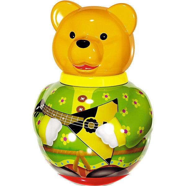 Неваляшка Бурый медведь Потапыч, в ассортименте, СтелларЮлы, неваляшки<br>Неваляшка большая Бурый медведь Потапыч, Стеллар (Stellar) -яркая и привлекательная игрушка для ребенка. Эта забавная игрушка практически не может устоять на одном месте! Яркие цвета «костюма» медведя и перекатывающийся внутри игрушки шарик-погремушка надолго увлекут ребенка.<br><br>Игра с неваляшкой стимулирует познавательную деятельность, мелкую моторику рук, цветовое и звуковое восприятие.<br><br>Порадуйте малыша прекрасным подарком!<br><br>Дополнительная информация:<br><br>- Материал: пластмасса<br>- Высота игрушки: 280 мм<br>- Размер упаковки: 180 х 180 х 280 мм<br>- Вес: 660 г.<br><br>Игрушку Неваляшка большая Бурый медведь Потапыч, Стеллар (Stellar) можно купить в нашем интернет-магазине.<br><br>Ширина мм: 180<br>Глубина мм: 180<br>Высота мм: 280<br>Вес г: 660<br>Возраст от месяцев: 6<br>Возраст до месяцев: 18<br>Пол: Унисекс<br>Возраст: Детский<br>SKU: 3362099
