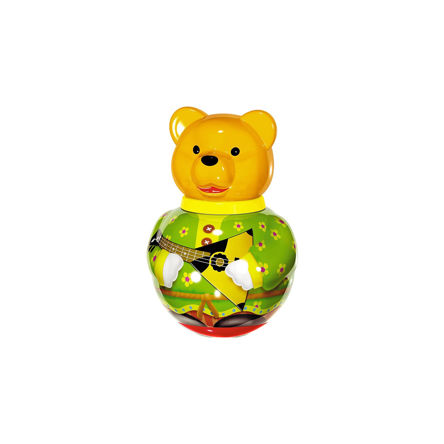 Неваляшка Бурый медведь Потапыч, в ассортименте, СтелларНеваляшка большая Бурый медведь Потапыч, Стеллар (Stellar) -яркая и привлекательная игрушка для ребенка. Эта забавная игрушка практически не может устоять на одном месте! Яркие цвета «костюма» медведя и перекатывающийся внутри игрушки шарик-погремушка надолго увлекут ребенка.<br><br>Игра с неваляшкой стимулирует познавательную деятельность, мелкую моторику рук, цветовое и звуковое восприятие.<br><br>Порадуйте малыша прекрасным подарком!<br><br>Дополнительная информация:<br><br>- Материал: пластмасса<br>- Высота игрушки: 280 мм<br>- Размер упаковки: 180 х 180 х 280 мм<br>- Вес: 660 г.<br><br>Игрушку Неваляшка большая Бурый медведь Потапыч, Стеллар (Stellar) можно купить в нашем интернет-магазине.<br><br>Ширина мм: 180<br>Глубина мм: 180<br>Высота мм: 280<br>Вес г: 660<br>Возраст от месяцев: 6<br>Возраст до месяцев: 18<br>Пол: Унисекс<br>Возраст: Детский<br>SKU: 3362099