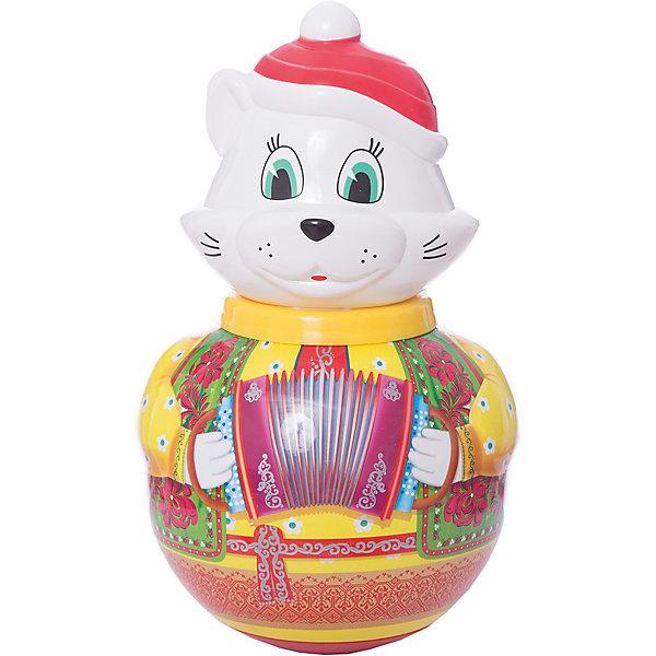 Неваляшка большая Кот Барсик, СтелларЮлы, неваляшки<br>Неваляшка большая Кот Барсик, Стеллар (Stellar) — забавная и яркая игрушка для вашего ребенка.<br><br>Рисунок на туловище кота-наваляшки имитирует расшитую узорами рубаху. Внутри перекатывается шарик-погремушка, издавая приятные мелодичные звуки.<br><br>Играя с неваляшкой, ребенок развивает мелкую моторику рук и звуковое восприятие.<br><br>Неваляшка Кот Барсик не оставит равнодушным ни одного малыша!<br><br>Дополнительная информация:<br><br>- Материал: пластмасса<br>- Высота игрушки: 280 мм<br>- Размер упаковки: 180 х 180 х 280 мм<br>- Вес: 660 г.<br><br>Неваляшку большую Кот Барсик, Стеллар (Stellar) можно купить в нашем интернет-магазине.<br>Ширина мм: 180; Глубина мм: 180; Высота мм: 280; Вес г: 660; Возраст от месяцев: 6; Возраст до месяцев: 18; Пол: Унисекс; Возраст: Детский; SKU: 3362100;