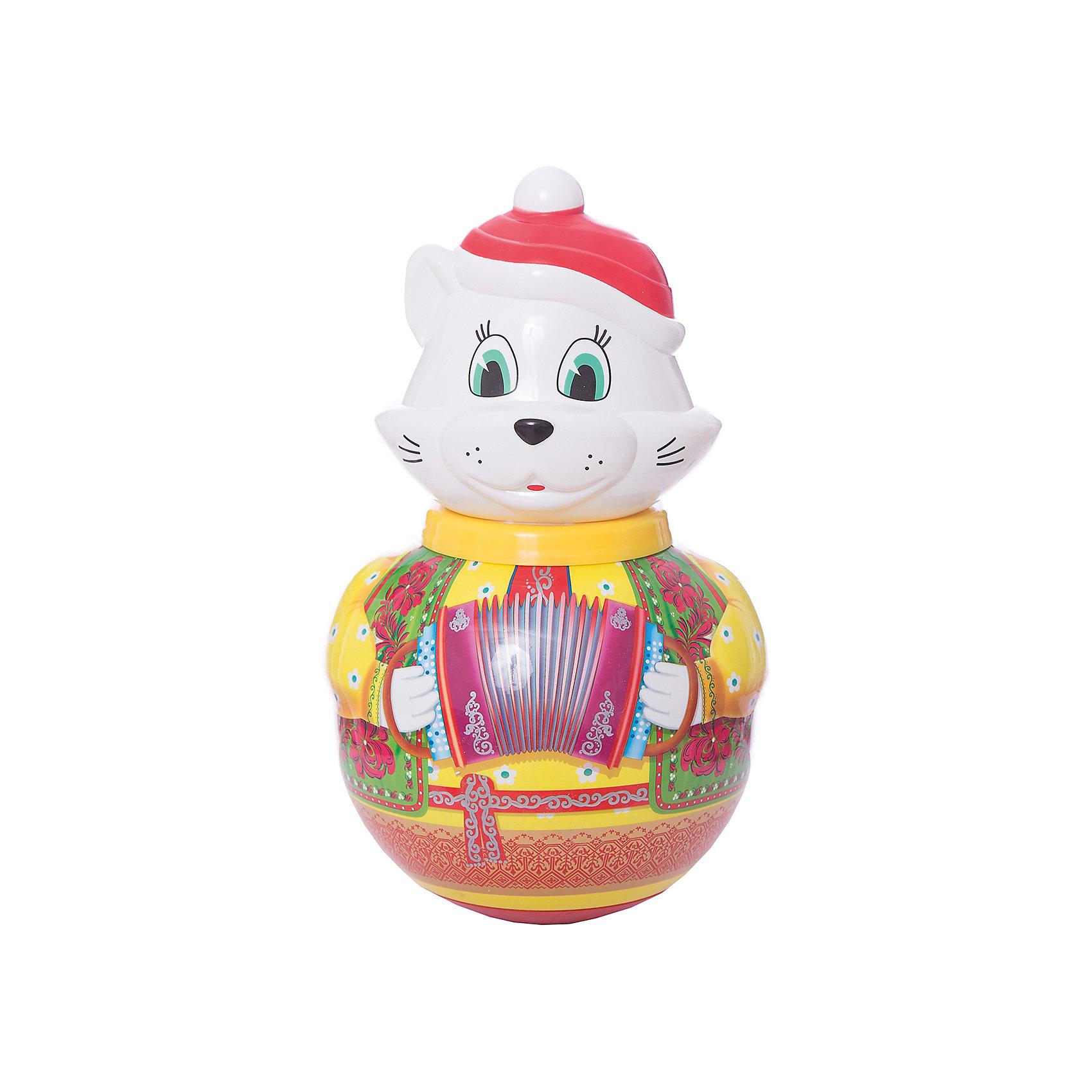 Неваляшка большая Кот Барсик, СтелларНеваляшки<br>Неваляшка большая Кот Барсик, Стеллар (Stellar) — забавная и яркая игрушка для вашего ребенка.<br><br>Рисунок на туловище кота-наваляшки имитирует расшитую узорами рубаху. Внутри перекатывается шарик-погремушка, издавая приятные мелодичные звуки.<br><br>Играя с неваляшкой, ребенок развивает мелкую моторику рук и звуковое восприятие.<br><br>Неваляшка Кот Барсик не оставит равнодушным ни одного малыша!<br><br>Дополнительная информация:<br><br>- Материал: пластмасса<br>- Высота игрушки: 280 мм<br>- Размер упаковки: 180 х 180 х 280 мм<br>- Вес: 660 г.<br><br>Неваляшку большую Кот Барсик, Стеллар (Stellar) можно купить в нашем интернет-магазине.<br><br>Ширина мм: 180<br>Глубина мм: 180<br>Высота мм: 280<br>Вес г: 660<br>Возраст от месяцев: 6<br>Возраст до месяцев: 18<br>Пол: Унисекс<br>Возраст: Детский<br>SKU: 3362100