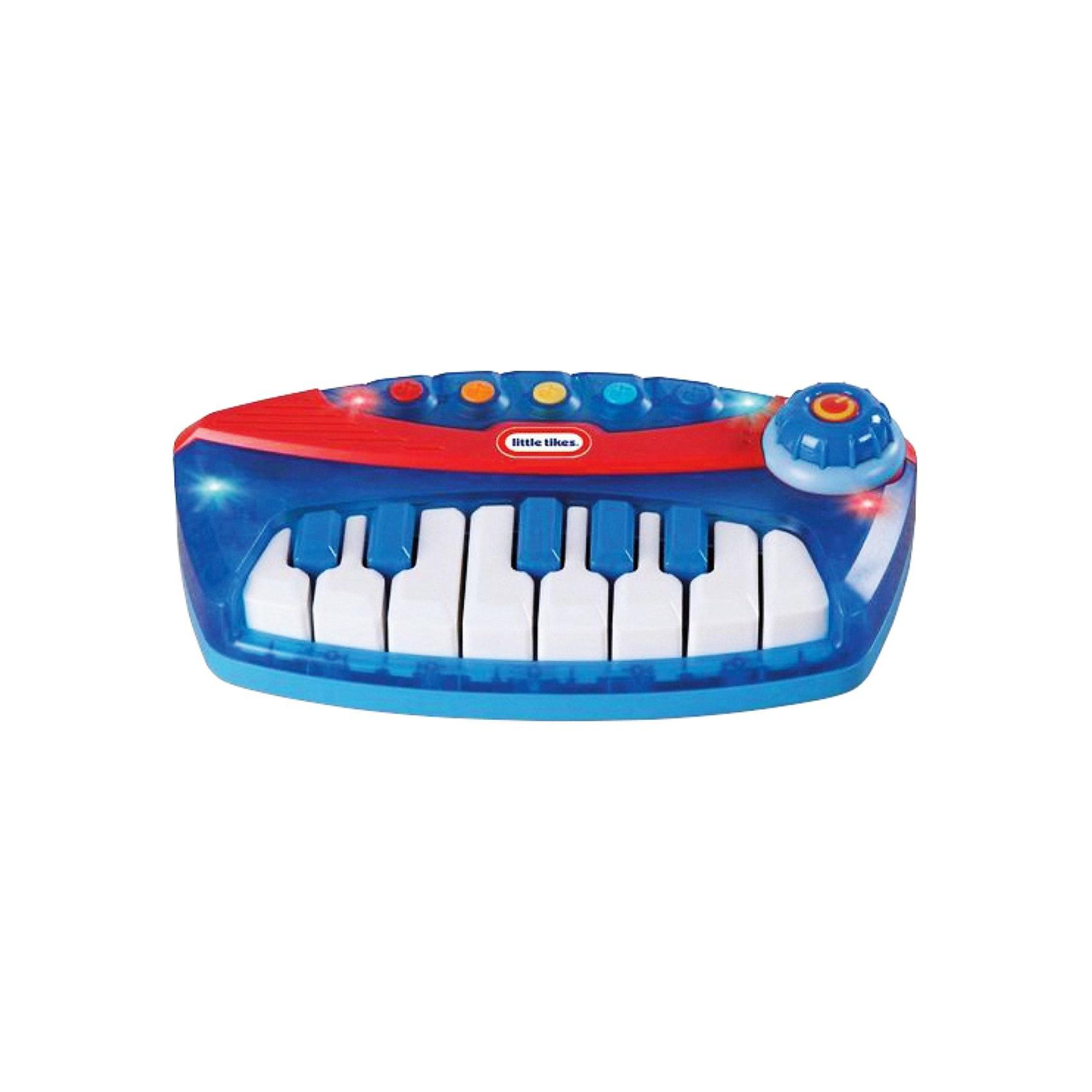 Пианино, Little TikesИнтерактивные игрушки для малышей<br>Пианино, Little Tikes - отличная музыкальная игрушка- инструмент, который сможет освоить даже самый маленький ребенок!<br><br>Пианино Литтл Тайкс может проигрывать как записанные в память мелодии (всего 5 предзаписанных мелодий), так и музыку, которую сочинит Ваш малыш. На клавиатуре есть целая нотная октава, и ребенок может почувствовать себя настоящим композитором.  Клавиатура подсвечивается красными и синими огоньками. На корпусе расположены пять ярких разноцветных клавиш, которые очень удобно нажимать маленькими детскими пальчиками. Если юный пианист хорошо осваивает музыкальный  инструмент, то он может воспользоваться возможностью переключения ладов: мажорный и минорный. Способствует развитию у ребенка фантазии, любви к музыке, а также формированию музыкальных наклонностей.<br><br>Дополнительная информация:<br><br>- В комплекте: игрушка-пианино, со светом и звуком.<br>- 5 предзаписанных мелодий.<br>- Возможность переключения ладов (мажор/минор).<br>- Кнопка 2 в 1 (включение/ выключение и контроль). - Регулировка громкости звука. <br>- Питание: требуются 3 батарейки АА. (включены)<br>- Размеры (Д)26 Х (Ш)38 Х7,5(В) см<br>- Вес: 850 г<br><br>Пианино, Little Tikes  можно купить в нашем интернет-магазине.<br><br>Ширина мм: 380<br>Глубина мм: 75<br>Высота мм: 260<br>Вес г: 888<br>Возраст от месяцев: 24<br>Возраст до месяцев: 60<br>Пол: Унисекс<br>Возраст: Детский<br>SKU: 3363005