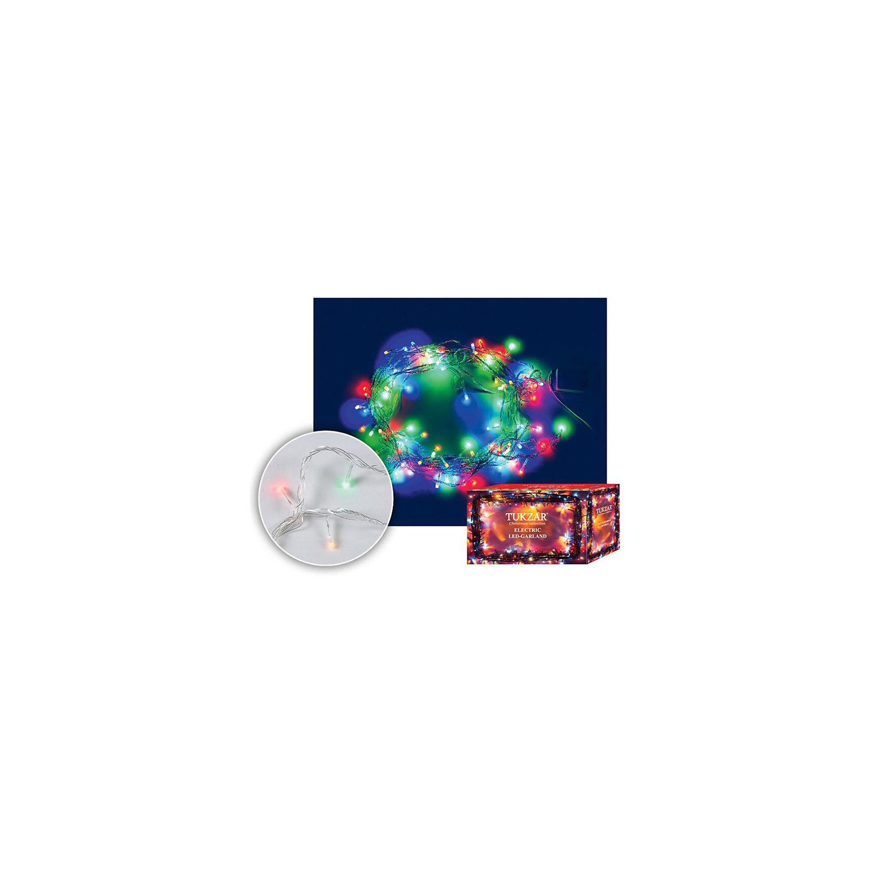 Светодиодная гирлянда, 10 мСветодиодная гирлянда, 10 м станет прекрасным новогодним украшением для всей семьи! <br>Ваш малыш с удовольствием примет участие в украшении дома и проникнется атмосферой волшебства!<br><br>Дополнительная информация:<br><br>Гирлянда светодиодная на прозрачном проводе с разноцветными лампами. <br>С встроенным контроллером (8 режимов работы). Поставляется в картонной коробке.<br>Светодиодная гирлянда, 10 м, 100 ламп, РАЗНОЦВЕТНЫЙ цвет свечения, прозрачный провод, с контроллером<br><br>Поможет всей семье поверить в новогоднее чудо!<br>Легко приобрести в нашем интернет-магазине!<br><br>Ширина мм: 100<br>Глубина мм: 500<br>Высота мм: 200<br>Вес г: 222<br>Возраст от месяцев: 36<br>Возраст до месяцев: 144<br>Пол: Унисекс<br>Возраст: Детский<br>SKU: 3368265