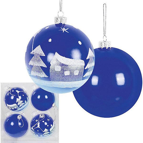 Набор ёлочных шаров, 4 шт, d=8 см, синиеЁлочные игрушки<br>Набор ёлочных шаров, 4 шт, d=8 см, синие станет прекрасным новогодним украшением для всей семьи! <br>Ваш малыш с удовольствием примет участие в украшении дома и проникнется атмосферой волшебства!<br><br>Дополнительная информация:<br><br>Набор елочных шаров, 4 шт, ? 8 см, синий цвет, материал :пластик<br><br>Поможет всей семье поверить в новогоднее чудо!<br>Легко приобрести в нашем интернет-магазине!<br><br>Ширина мм: 80<br>Глубина мм: 200<br>Высота мм: 100<br>Вес г: 160<br>Возраст от месяцев: 36<br>Возраст до месяцев: 144<br>Пол: Унисекс<br>Возраст: Детский<br>SKU: 3368314