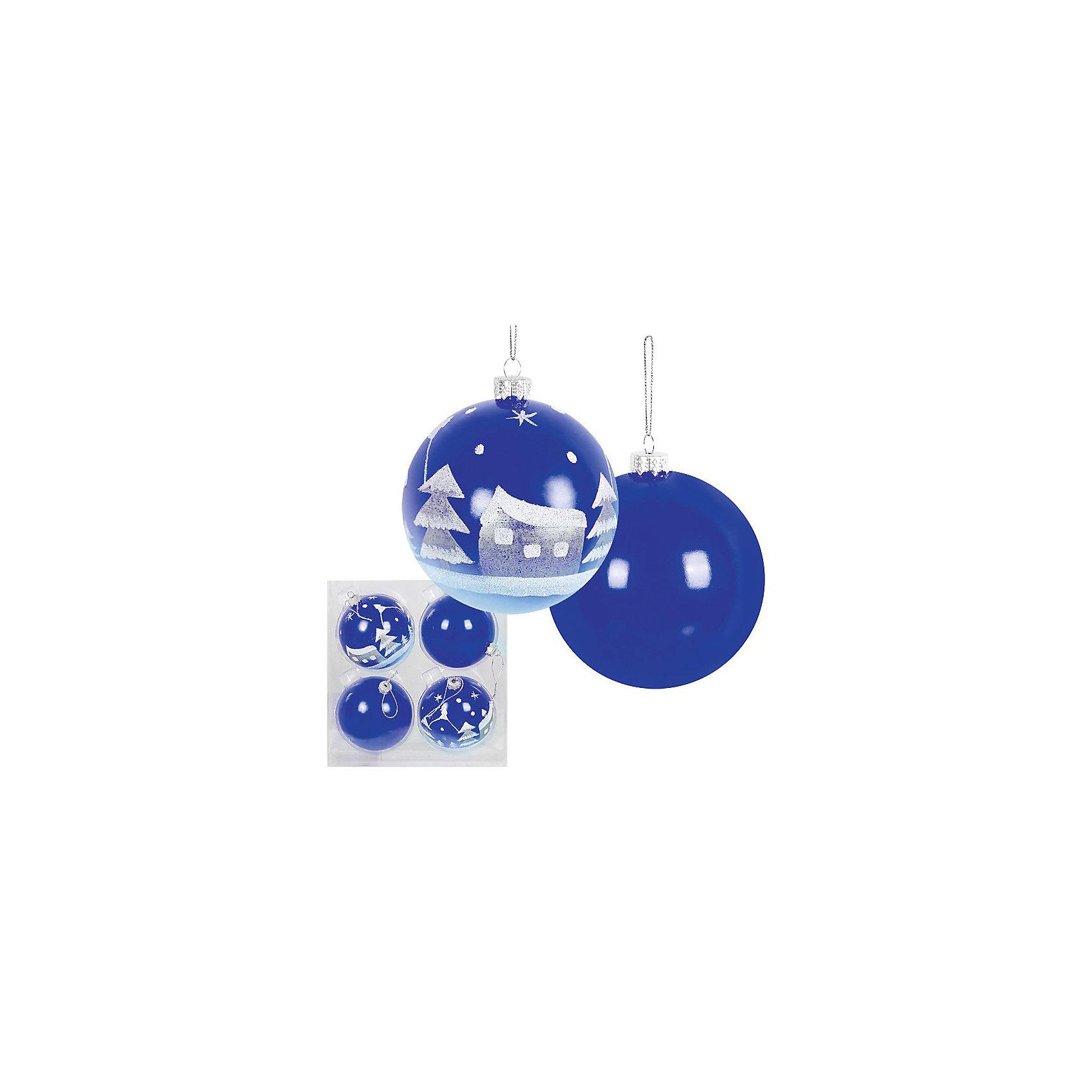 Набор ёлочных шаров, 4 шт, d=8 см, синиеВсё для праздника<br>Набор ёлочных шаров, 4 шт, d=8 см, синие станет прекрасным новогодним украшением для всей семьи! <br>Ваш малыш с удовольствием примет участие в украшении дома и проникнется атмосферой волшебства!<br><br>Дополнительная информация:<br><br>Набор елочных шаров, 4 шт, ? 8 см, синий цвет, материал :пластик<br><br>Поможет всей семье поверить в новогоднее чудо!<br>Легко приобрести в нашем интернет-магазине!<br><br>Ширина мм: 80<br>Глубина мм: 200<br>Высота мм: 100<br>Вес г: 160<br>Возраст от месяцев: 36<br>Возраст до месяцев: 144<br>Пол: Унисекс<br>Возраст: Детский<br>SKU: 3368314