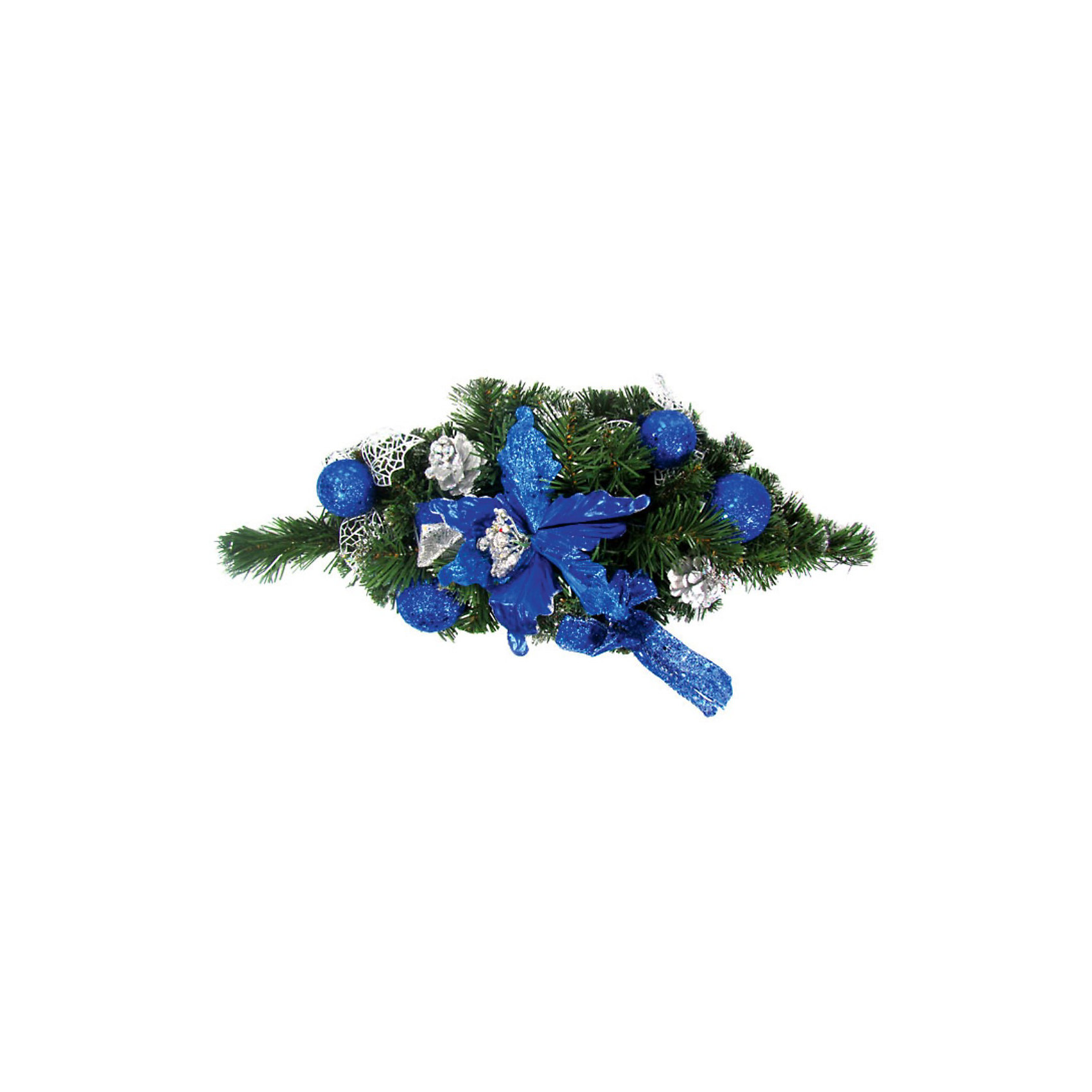 Украшение надверное хвойное, синие элементы, 40 смУкрашение надверное хвойное, синие элементы, 40 см станет прекрасным новогодним украшением для всей семьи! <br>Ваш малыш с удовольствием примет участие в украшении дома и проникнется атмосферой волшебства!<br><br>Дополнительная информация:<br><br>Украшение надверное хвойное, синие элементы, 40 см<br><br>Поможет всей семье поверить в новогоднее чудо!<br>Легко приобрести в нашем интернет-магазине!<br><br>Ширина мм: 400<br>Глубина мм: 200<br>Высота мм: 100<br>Вес г: 250<br>Возраст от месяцев: 36<br>Возраст до месяцев: 144<br>Пол: Унисекс<br>Возраст: Детский<br>SKU: 3368343