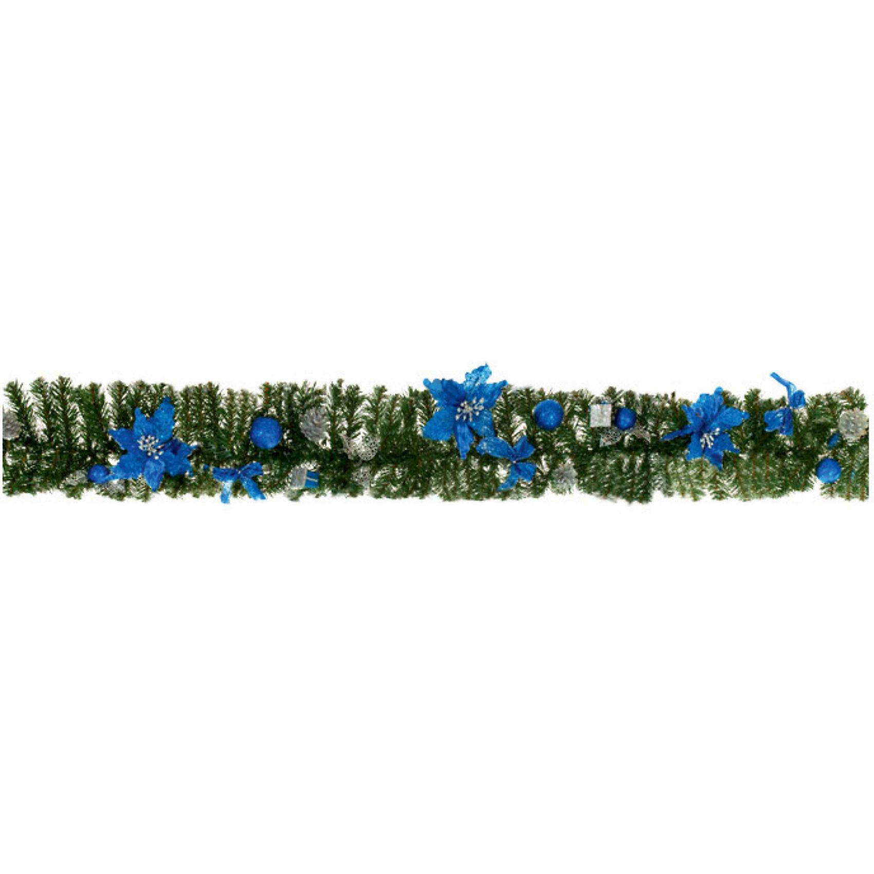 Гирлянда хвойная с синими украшениями, длина - 1,8мГирлянда хвойная с синими украшениями, длина - 1,8м станет прекрасным новогодним украшением для всей семьи! <br>Ваш малыш с удовольствием примет участие в украшении дома и проникнется атмосферой волшебства!<br><br>Дополнительная информация:<br><br>Гирлянда хвойная с синими украшениями, длина - 1,8м<br><br>Поможет всей семье поверить в новогоднее чудо!<br>Легко приобрести в нашем интернет-магазине!<br><br>Ширина мм: 180<br>Глубина мм: 200<br>Высота мм: 100<br>Вес г: 640<br>Возраст от месяцев: 36<br>Возраст до месяцев: 144<br>Пол: Унисекс<br>Возраст: Детский<br>SKU: 3368346