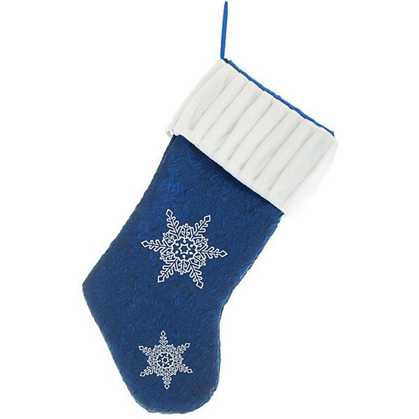 Носок для подарков, 50 см, синий цвет