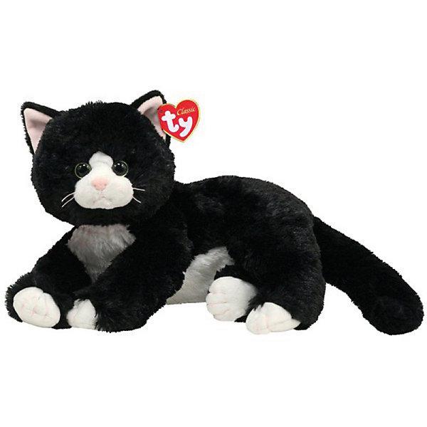 Кошка Shadow (черная), 25 смМягкие игрушки животные<br>Мягкая игрушка Кошка Shadow  - это отличный подарок для ребенка, который любит животных. Ведь она как настоящая! Кошечка Shadow приятно разлеглась и ждет когда ее погладят! Ваш малыш будет просто счастлив получить эту милую, красивую, приятную на ощупь кошечку. Будьте уверены, теперь ребенок никогда не расстанется с этим созданием, вызывающим улыбку умиления. Ведь от игрушки невозможно оторвать глаз, с ней хочется играть и играть. Пусть Ваш ребенок станет радостным обладателем этой симпатичной кошечки!<br><br>Дополнительная информация:<br><br>- Игрушка развивает: тактильные навыки, зрительную координацию, мелкую моторику рук;<br>- Материалы не вызовут аллергии у Вашего малыша;<br>- Яркие и стойкие цвета приятны для глаз;<br>- Материал: плюш, пластик;<br>- Цвет: черный/белый;<br>- Размер игрушки: 33 см<br><br>Кошку Shadow, 33 см, Ty, можно купить в нашем интернет-магазине.<br><br>Ширина мм: 235<br>Глубина мм: 164<br>Высота мм: 121<br>Вес г: 158<br>Возраст от месяцев: 12<br>Возраст до месяцев: 60<br>Пол: Унисекс<br>Возраст: Детский<br>SKU: 3369007