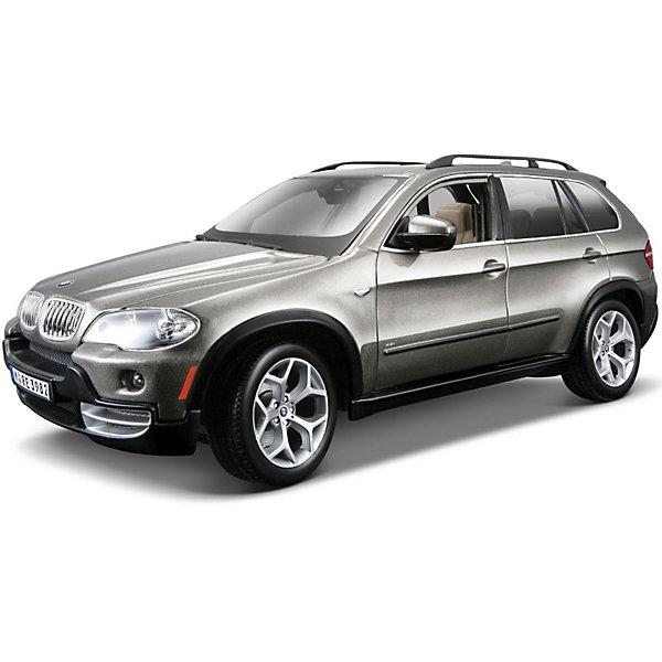 Машина BMW X5 1:18, BburagoМашинки<br>Модель машины BMW X5, Bburago станет замечательным подарком для автолюбителей и коллекционеров всех возрастов. Модель отличаются высокой степенью детализации и тщательной проработкой всех элементов.<br><br>Машинка BMW X5 представляет собой точную копию настоящего автомобиля в масштабе 1:18. Впервые внедорожник BMW X5 была представлен в 1999 году на автосалоне в Детройте, автомобиль сочетает в себе комфорт, динамику и высокие качества внедорожника. Модель от Bburago оснащена прочными стеклами и зеркалами заднего вида, интерьер салона и панель управления тщательно проработаны. Двери, багажник и капот открываются. Корпус модели выполнен из металла с элементами из пластика.<br><br>Дополнительная информация:<br><br>- Материал: металл, пластик, колеса прорезиненные.<br>- Масштаб: 1:18.<br>- Размер: 12 х 29,6 х 17,5 см.<br>- Вес: 1,12 кг. <br><br>Модель машины BMW X5, Bburago (Бураго) можно купить в нашем интернет-магазине.<br><br>Ширина мм: 296<br>Глубина мм: 120<br>Высота мм: 200<br>Вес г: 1030<br>Возраст от месяцев: 144<br>Возраст до месяцев: 1164<br>Пол: Мужской<br>Возраст: Детский<br>SKU: 3369435
