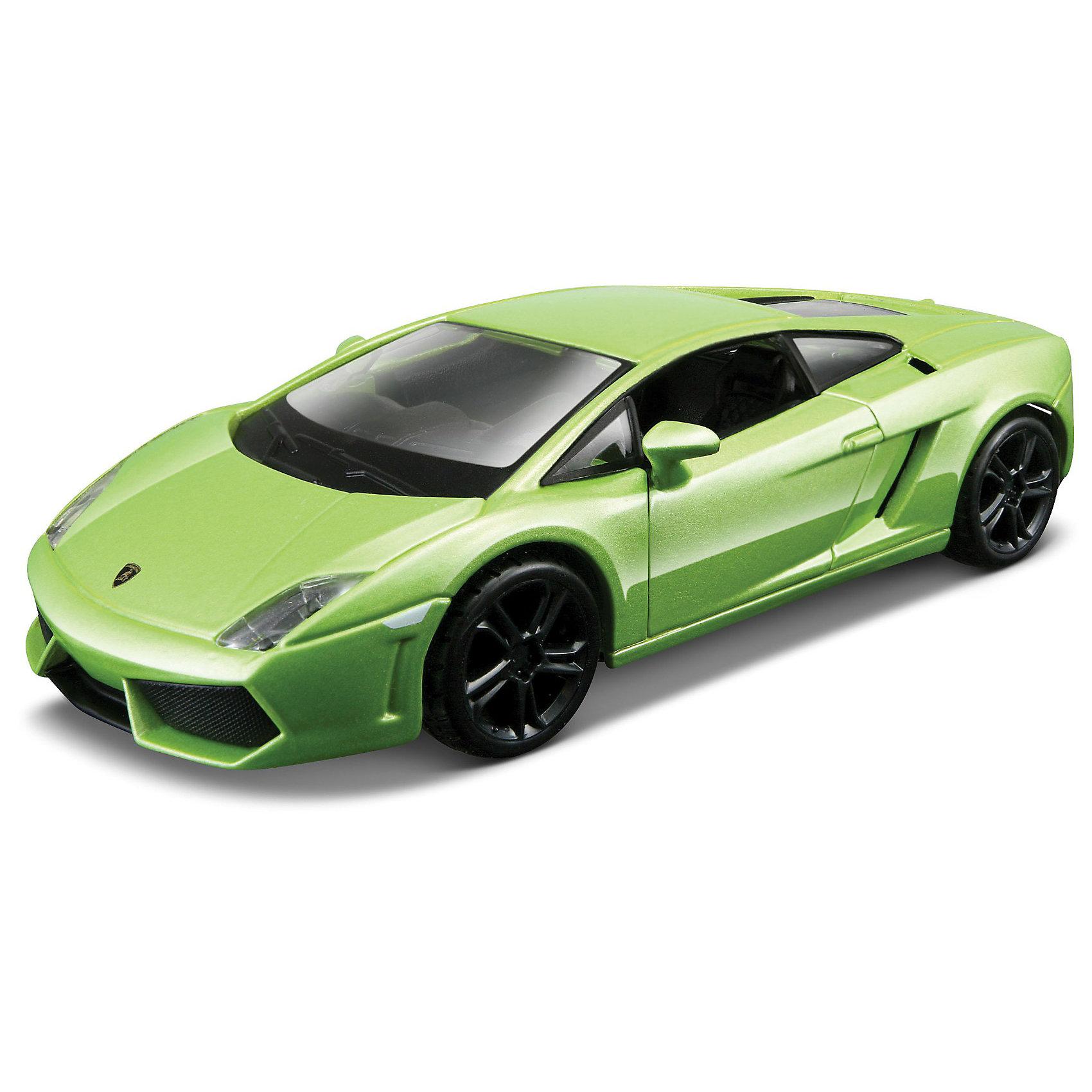 Машина Lamborghini Gallardo, 1:32, в ассортименте, BburagoМашина Lamborghini Gallardo LP560-4 2008 металл., 1:32, Bburago (Бураго).<br>Компания Bburago – мировой лидер в производстве коллекционных  моделей автомобилей.  <br>Более 30 лет профессиональные дизайнеры Bburago разрабатывают точные копии современных машин и ретро машин известных марок. <br>Lamborghini Gallardo (Ламборгини Гайардо) — спорткар, выпускающийся компанией Lamborghini c 2003 года. Меньшая по размеру и мощности модель компании по сравнению с Lamborghini Aventador (ранее - Lamborghini Murci?lago). Презентация автомобиля состоялась на Автошоу в Женеве в марте 2003 года. На сегодняшний день это самая массовая модель от Lamborghini — за 2 года было построено более 3000 автомобилей .<br>Модель автомобиля LAMBORGHINI GALLARDO LP560-4 произведена по лицензии автомобильного бренда известного во всем мире, за счет чего она во многом походит на оригинал. <br>Корпус игрушки, дополнившей серию «Street Fire», изготовлен из металла литьевым способом, что гарантирует высокую прочность и долговечность изделия, а также позволяет добиться улучшенной проработке мелких элементов. Все остальные детали машины выполнены из прочного пластика. <br>У LAMBORGHINI GALLARDO LP560-4 открываются дверцы и капот, а так же вращается руль и вертятся колеса. <br>Бесподобное качество сборки, высокая степень детализации и невероятное сходство с прототипом приведут в восторг не только юных и начинающих автолюбителей, но и взрослых знатоков автомобилей! <br>Размеры упаковки: 16,5 х 7,5 х 8 см<br><br>Внимание: товар представлен в ассортименте. К сожалению, выбрать определенный цвет заранее не представляется возможным.<br><br>Игрушку Машина Lamborghini Gallardo LP560-4 2008 металл., 1:32, Bburago можно купить в нашем интернет-магазине.<br><br>Ширина мм: 270<br>Глубина мм: 230<br>Высота мм: 90<br>Вес г: 245<br>Возраст от месяцев: 144<br>Возраст до месяцев: 1164<br>Пол: Мужской<br>Возраст: Детский<br>SKU: 3369442