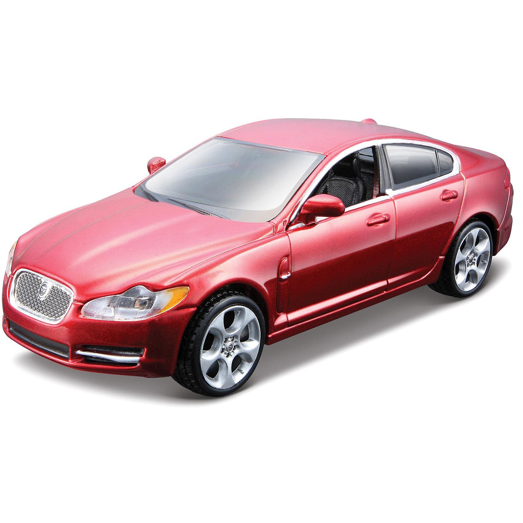 Машина JAGUAR XF металл., сборка, 1:32, BburagoМашина JAGUAR XF металл., сборка, 1:32, Bburago (Бураго)<br>Компания Bburago – мировой лидер в производстве коллекционных  моделей автомобилей.  <br>Более 30 лет профессиональные дизайнеры Bburago разрабатывают точные копии современных машин и ретро машин известных марок.  <br><br>Jaguar XF  — люксовый седан бизнес-класса/ спортивный седан, выпускаемый британской автомобилестроительной компанией Jaguar с 2008 года. Является преемником Jaguar S-type. XF был впервые представлен в 2007 на Франкфуртском автосалоне.<br><br>Функциональность игрушки: <br><br>- Собирается с помощью отвертки.<br>- Двери и капот открываются, руль вращается.<br><br>Коллекционная модель JAGUAR XF, 1:32, Bburago понравится даже самому искушенному автолюбителю!<br><br>Дополнительная информация:<br><br>- Цельнометаллический литой корпус.<br>- Материал: Металл, пластик<br>- Размеры упаковки: 19,5 х 10 х 7 см<br>- Цвет: ярко - красный.<br>- Вес: 0,3 кг.<br><br>Игрушку Машина JAGUAR XF металл., сборка, 1:32, Bburago можно купить в нашем интернет-магазине.<br><br>Ширина мм: 195<br>Глубина мм: 70<br>Высота мм: 100<br>Вес г: 300<br>Возраст от месяцев: 144<br>Возраст до месяцев: 1164<br>Пол: Мужской<br>Возраст: Детский<br>SKU: 3369443