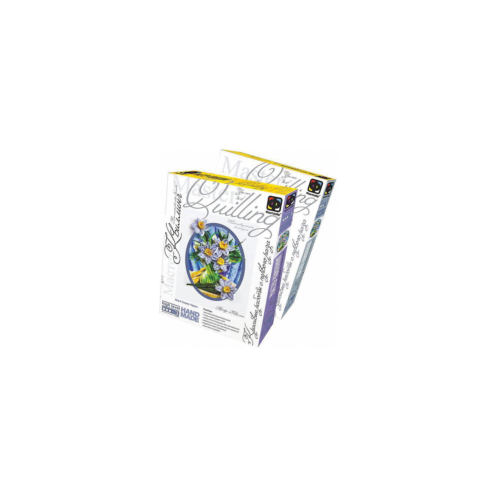 Мастер квиллинг Ромашки, ФантазерБумага<br>Набор для творчества «Мастер-Квиллинг» подходит как для новичков, только осваивающих увлекательную технику бумажной филиграни, так и для опытных мастеров и искушенных любителей этого искусства. В наборе Вы найдете все необходимое для создания бумажных шедевров: акварельная иллюстрация для основы объемной картины, набор цветных бумажных лент, деревянный стик для скручивания элементов, клей и объемную рамку. В подробной иллюстрированной инструкции дано пошаговое описание каждого этапа работы. Состав: бумага, картон, дерево, пластик, клей.<br><br>Дополнительная информация:<br><br>- вес: 214 гр.<br>- размеры упаковки (картонная коробка) (д/ш/в) : 30x22x3,5 см.<br><br>Мастер квиллинг Ромашки, Фантазер можно купить в нашем магазине.<br><br>Ширина мм: 35<br>Глубина мм: 305<br>Высота мм: 225<br>Вес г: 420<br>Возраст от месяцев: 84<br>Возраст до месяцев: 144<br>Пол: Женский<br>Возраст: Детский<br>SKU: 3370607