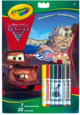 Раскраска+головоломки Тачки , Crayola