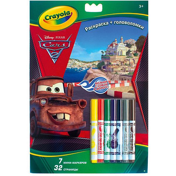 Раскраска+головоломки Тачки, CrayolaТачки<br>Раскраска+головоломки Тачки, Crayola.<br><br>Раскраска Тачки с головоломками от компании Crayola понравится всем любителям мультфильма Тачки. Развивает моторику, логику, воображение и фантазию Вашего ребенка. <br>В раскраске 32 страницы и 7 небольших фломастеров. <br>Рекомендуется для детей от 3х лет <br><br>Станет прекрасным подарком любому малышу!<br>Можно легко приобрести в нашем интернет магазине<br><br>Ширина мм: 230<br>Глубина мм: 15<br>Высота мм: 355<br>Вес г: 200<br>Возраст от месяцев: 36<br>Возраст до месяцев: 60<br>Пол: Унисекс<br>Возраст: Детский<br>SKU: 3371791