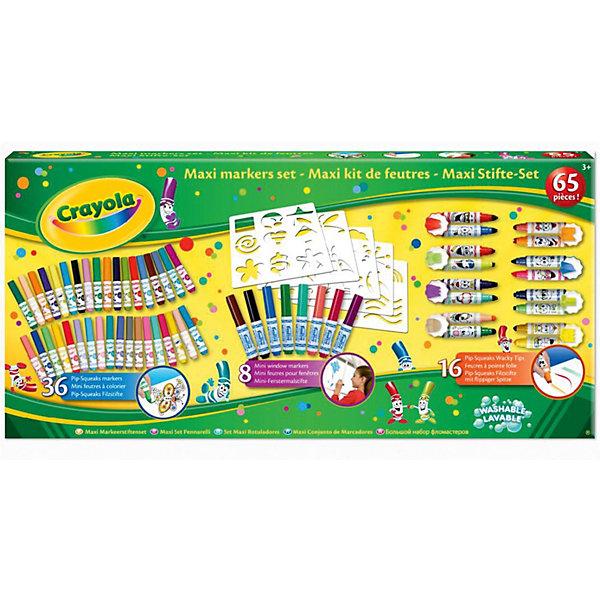 Гигантский набор фломастеров, CrayolaФломастеры<br>Гигантский набор фломастеров, Crayola.<br><br>Порадуйте своего ребенка гигантским набором фломастеров от компании Crayola. С таким набором ребенок сможет раскрыть весь свой творческий патенциал и создать удивительные картины. <br><br>Дополнительная информация:<br><br>В набор входит: 60 разнообразных фломастеров и 5 трафаретов.<br>Размер упаковки: 64,7х5,5x30,8 см.<br><br>Станет прекрасным подарком любому малышу!<br><br>Гигантский набор фломастеров, Crayola можно приобрести в нашем интернет магазине<br><br>Ширина мм: 310<br>Глубина мм: 55<br>Высота мм: 650<br>Вес г: 1000<br>Возраст от месяцев: 36<br>Возраст до месяцев: 60<br>Пол: Унисекс<br>Возраст: Детский<br>SKU: 3371794