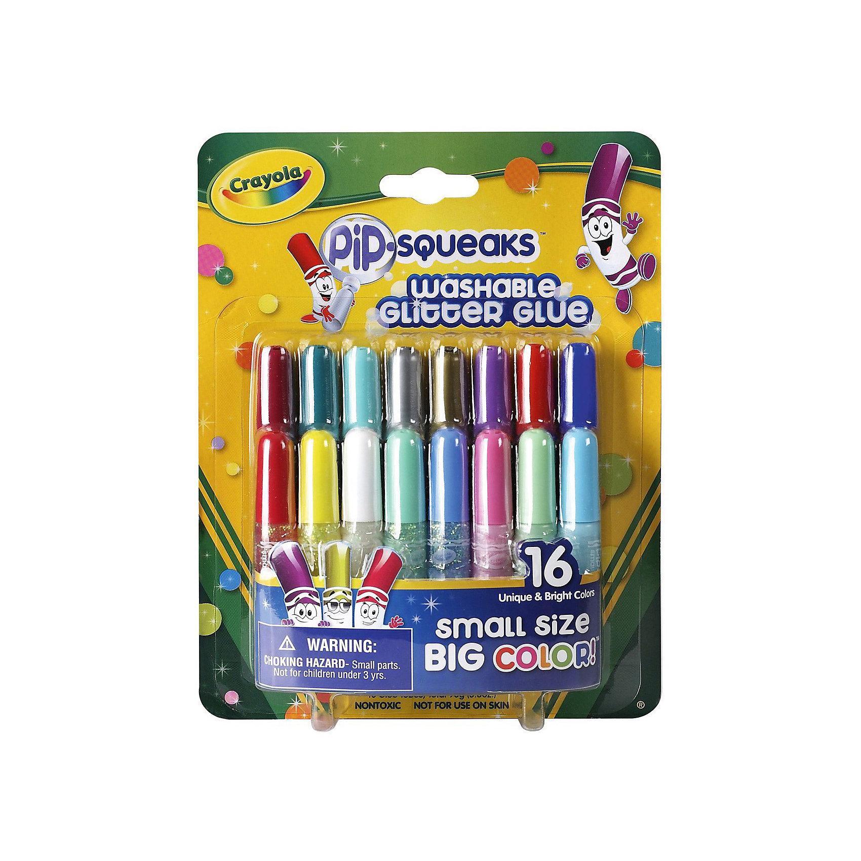 16 мини-тюбиков с блестящим клеем, Crayola16 мини-тюбиков с блестящим клеем, Crayola.<br><br>С набором из 16-ти мини-тюбиков с блестящим клеем от компании Crayola Ваш ребенок сможет проявить свою фантазию и добавить немного сияния и блесток в свои работы. <br>Количество: 16шт. <br>Рекомендованно для детей от 3-х лет. <br><br>Станет прекрасным подарком любому малышу!<br>Можно легко приобрести в нашем интернет магазине<br><br>Ширина мм: 160<br>Глубина мм: 190<br>Высота мм: 45<br>Вес г: 300<br>Возраст от месяцев: 72<br>Возраст до месяцев: 108<br>Пол: Унисекс<br>Возраст: Детский<br>SKU: 3371795