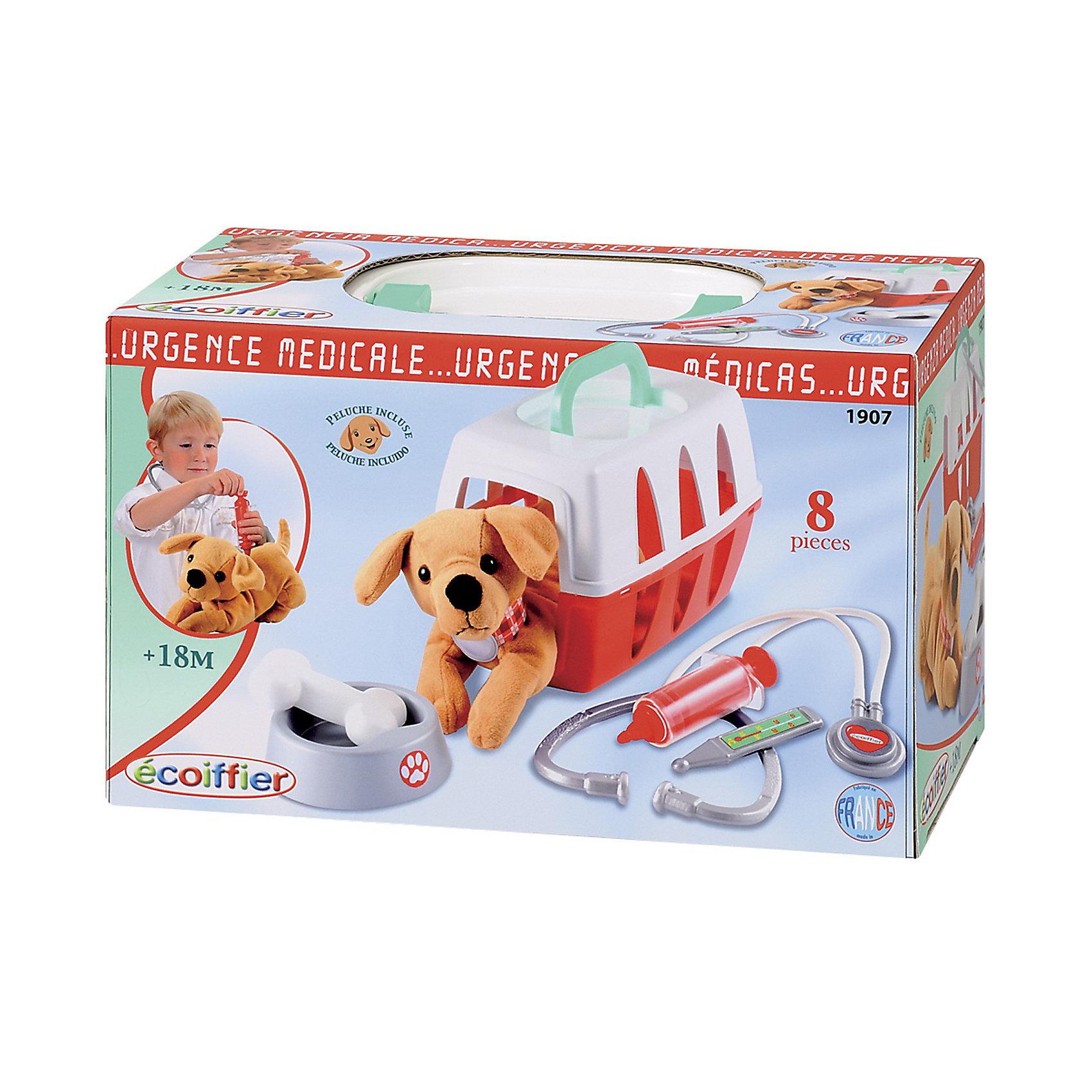 Набор ветеринара в чемоданчике, SmobyНаборы доктора и ветеринара<br>Набор ветеринара в чемоданчике от Smoby это игрушка для детей, которые любят животных, и хотели бы научиться их лечить. Такая игра научит вашего малыша заботиться о питомце. Наборе ветеринара есть все необходимое, чтобы вылечить маленького плюшевого пациента.<br><br>Набор ветеринара в чемоданчике непременно порадует будущего доктора!<br><br>Дополнительная информация:<br><br>- В комплекте: плюшевая собачка в ошейнике, медицинские инструменты (термометр, стетоскоп и шприц) для осмотра и лечения вашего питомца, миска с угощением для вашего питомца в виде аппетитной косточки и пластиковый контейнер-переноска.<br>- Материал: пластик, текстиль<br>- Размеры чемоданчика: (Д)24 Х (Ш)14 Х(В) 15 см<br>- Размеры упаковки: (Д)25 Х (Ш)14 Х(В) 15,8 см<br><br>Игрушку Набор ветеринара в чемоданчике, Smoby можно купить в нашем интернет-магазине.<br><br>Ширина мм: 250<br>Глубина мм: 140<br>Высота мм: 150<br>Вес г: 1200<br>Возраст от месяцев: 18<br>Возраст до месяцев: 60<br>Пол: Унисекс<br>Возраст: Детский<br>SKU: 3373358
