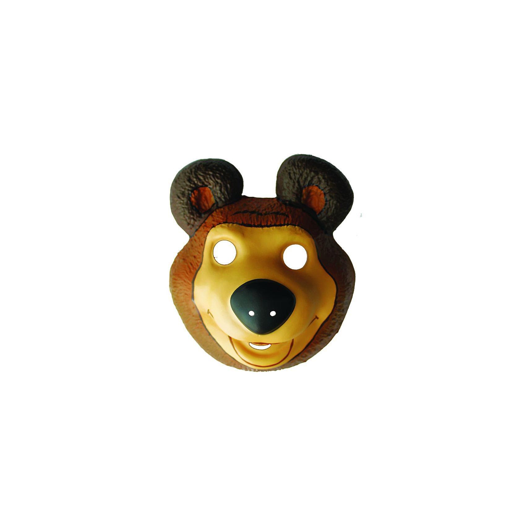 Маска Медведь, Маша и медведьС детской маской Медведя ребенок превратится в героя любимого мультика про Машу и Медведя.<br><br>Дополнительная информация:<br><br>- Материал: ПВХ<br>- Размер упаковки: 20 х 21 см<br><br>Маску Медведь, Маша и медведь можно купить в нашем магазине.<br><br>Ширина мм: 200<br>Глубина мм: 210<br>Высота мм: 20<br>Вес г: 20<br>Возраст от месяцев: 36<br>Возраст до месяцев: 120<br>Пол: Мужской<br>Возраст: Детский<br>SKU: 3375131