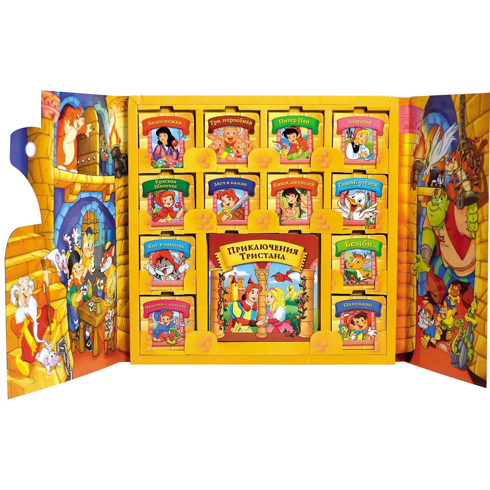 Подарочное издание Сказочный замок (13 в 1)Подарочный набор из 13 мини-книжек с самыми известными сказками в красиво оформленной коробке в виде замка. Любимые истории малыш всегда может взять с собой.  <br><br>Дополнительная информация:<br><br>В наборе 13 книжечек по 12 страниц: 12 книг формата 85х85 мм, и одна - 170х170 мм. <br>Обложка: Картон <br>Формат: 425х425х20 мм<br>Объем: 12 стр.<br><br>Содержание:<br><br>Книга 1: Приключения Тристана<br>Книга 2: Белоснежка<br>Книга 3: Три поросенка<br>Книга 4: Питер Пэн<br>Книга 5: Золушка<br>Книга 6: Красная Шапочка<br>Книга 7: Меч в камне<br>Книга 8: Книга джунглей<br>Книга 9: Гадкий утенок<br>Книга 10: Кот в сапогах<br>Книга 11: Мальчик-спальчик<br>Книга 12: Бемби<br>Книга 13: Пиноккио<br><br>Сказочный замок (13 в 1) Росмэн можно купить в нашем магазине.<br><br>Ширина мм: 425<br>Глубина мм: 425<br>Высота мм: 20<br>Вес г: 1440<br>Возраст от месяцев: 24<br>Возраст до месяцев: 84<br>Пол: Унисекс<br>Возраст: Детский<br>SKU: 3375170