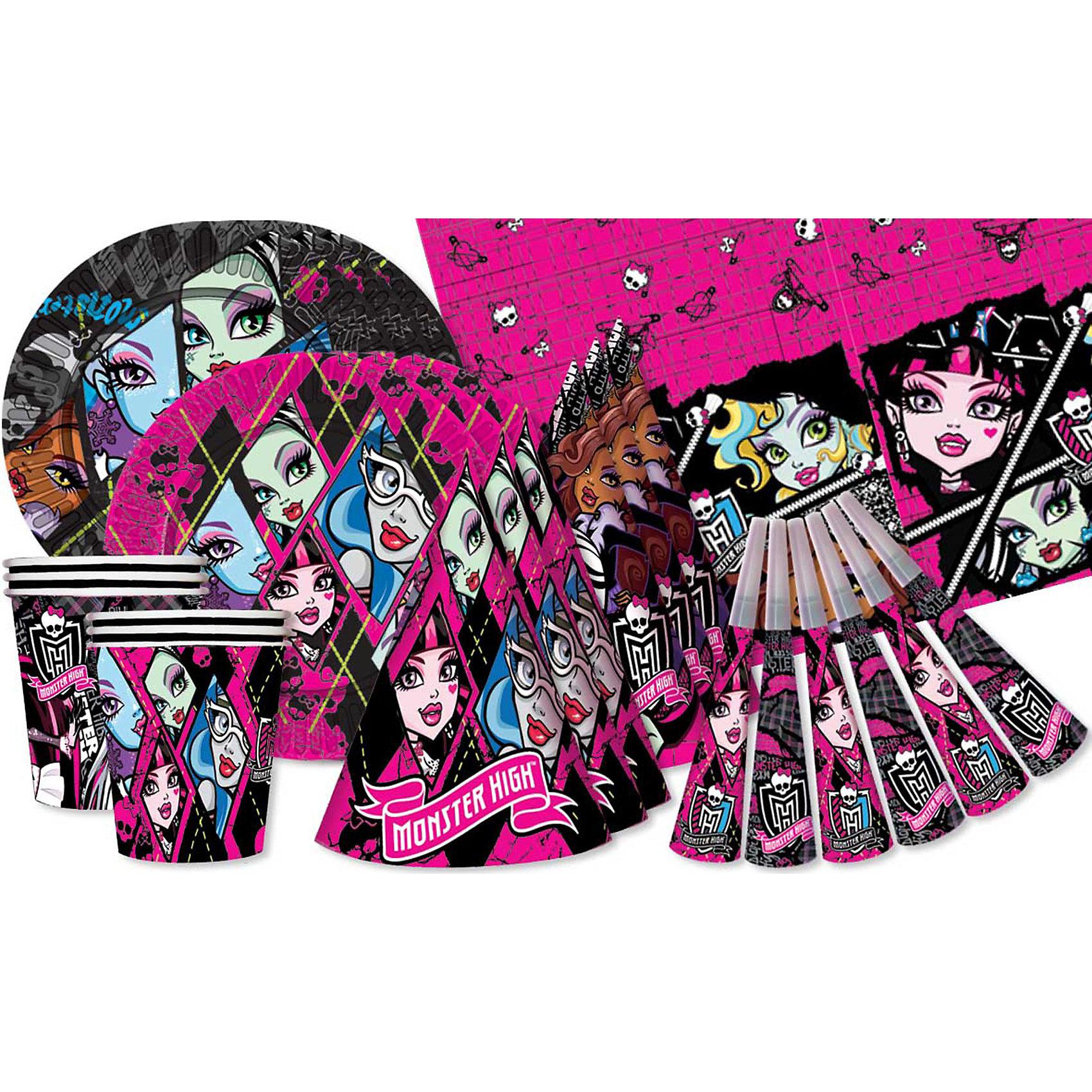 Набор для праздника 6 персон, Monster High