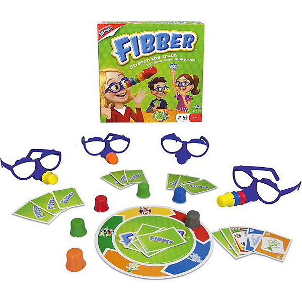 Настольная игра FIBBER, Spin MasterХиты продаж<br>Настольная игра FIBBER (Фиббер) от Spinmaster – веселая карточная игра для детей и взрослых. В переводе с английского Fibber означает «врунишка, обманщик». <br><br>Задача всех игроков «поймать» Фиббера, если он говорит неправду. <br><br>Как играть:<br><br>- на игровом поле нарисован большой круг, а по его окружности расположено пять цветных участков. На каждом участке определенного цвета нарисован персонаж: обезьяна, привидение, дракон, ведьма, монстр<br>- разделите карты поровну между участниками<br>- игроки делают ход по очереди. Необходимо положить в зеленый круг некоторое количество карточек. Они должны быть такого же цвета и с такой же картинкой как на игровом поле, а могут и не быть <br>- если участники верят игроку, положившему карточку, то ход передается дальше. Если же нет, то его карточки переворачиваются на всеобщее обозрение<br>- участник схитрил? Тогда он забирает себе все карты и надевает цветной нос.<br>- участник оказался честным? Игра продолжается<br>- выигрывает тот, у кого оказался самый короткий нос.<br><br>Веселье и отличное настроение гарантировано всем участникам!<br><br>Дополнительная информация:<br><br>- В комплекте: игровое поле, 4 пары очков, 24 карты, 11 смешных носов, правила игры.<br>- Размер(ДхШхВ), см: 26,5 х 5 х 26,5<br>- Вес: 525 г.<br><br>Настольную игру  FIBBER, Spin Master можно купить в нашем интернет-магазине<br>Ширина мм: 265; Глубина мм: 50; Высота мм: 265; Вес г: 525; Возраст от месяцев: 84; Возраст до месяцев: 192; Пол: Унисекс; Возраст: Детский; SKU: 3375356;