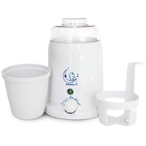 Подогреватель детского питания и стерилизатор Maman BY-01Подогреватели детского питания<br>Подходит для всех типов бутылочек. <br>Позволяет разогревать баночки с детским питанием.<br>Нагревает за несколько минут.<br>Плавная регулировка температуры. <br>Автоматически поддерживает заданную температуру нагрева. <br>В комплекте специальный лифт для удобного извлечения баночек с детским питанием. <br>Стерилизация бутылочек, сосок, пустышек. <br>Безопасный, экономичный и надежный нагревательный элемент. <br>Индикатор состояния нагрева и готовности. <br>Комплектность: подогреватель, лифт, стакан с крышкой.<br>Ширина мм: 140; Глубина мм: 140; Высота мм: 200; Вес г: 471; Возраст от месяцев: 0; Возраст до месяцев: 36; Пол: Унисекс; Возраст: Детский; SKU: 3375640;