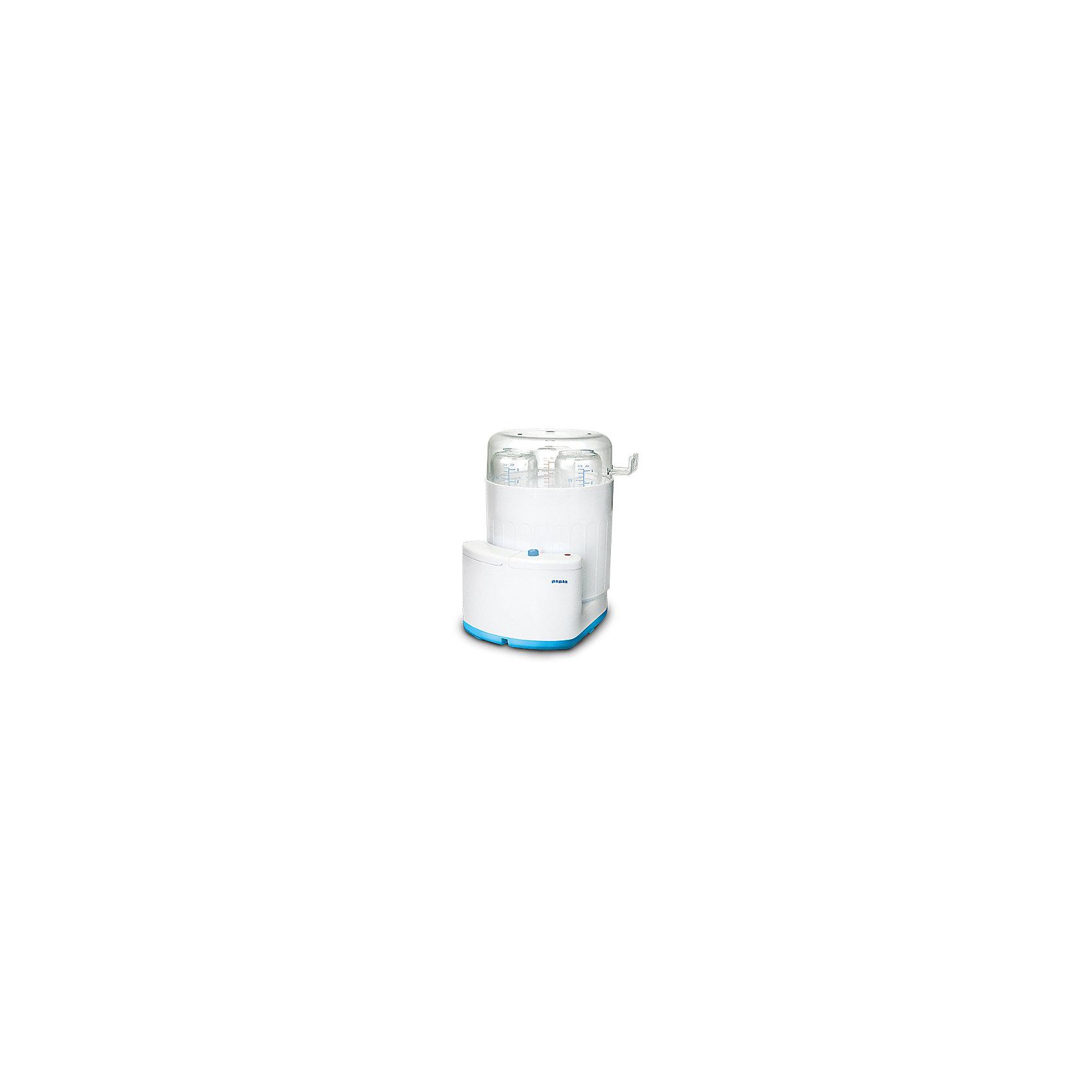 Стерилизатор Maman LS-B302Стерилизатор Maman предназначен для стерилизации бутылочек емкостью от 100 мл до 300 мл (до 3-х одновременно) и аксессуаров, сосок, пустышек при помощи горячего пара.<br>Стерилизатор оснащен безопасным, экономичным и надежным нагревательным элементом. <br>Индикация работы и окончания процесса стерилизации. Простота и удобство эксплуатации.<br>Автоматическое отключение.<br><br>Дополнительная информация:<br><br>- вмещает до 3-х бутылочек от 100 до 300 мл.;<br>- отключается автоматически;<br>- индикация работы и окончания процесса стерилизации;<br>- температура нагрева: до 100С.<br>- мощность: 350 Вт<br>- в комплекте: стерилизатор; мерный стакан держатель и инструкция на русском языке.<br><br>Стерилизатор Maman можно купить в нашем магазине.<br><br>Ширина мм: 200<br>Глубина мм: 170<br>Высота мм: 240<br>Вес г: 648<br>Возраст от месяцев: 0<br>Возраст до месяцев: 36<br>Пол: Унисекс<br>Возраст: Детский<br>SKU: 3375641