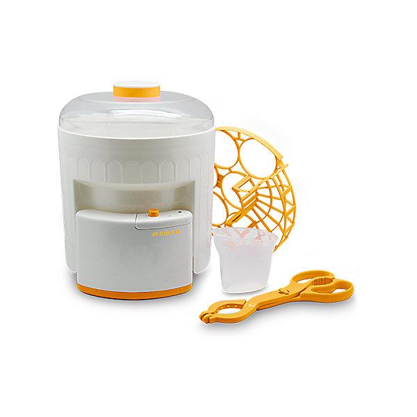 Стерилизатор Maman BY-03Cтерилизаторы<br>Предназначен <br>для стерилизации бутылочек для детского питания всех видов <br>(до 6 штук одновременно), а также аксессуаров, необходимых для кормления малыша.<br>Съемный держатель для укладки стерилизуемых предметов позволяет размещать в устройстве, одновременно с бутылочками, соски, пустышки, а также мелкие детали молокоотсоса.<br>Световой индикатор на корпусе стерилизатора отображает включение устройства и гаснет после завершения процесса стерилизации.<br>В комплекте: основа стерилизатора, бачок, крышка, держатель для укладки предметов, щипцы для безопасного извлечения горячих предметов, мерный стаканчик, руководство пользователя.<br><br>Ширина мм: 227<br>Глубина мм: 230<br>Высота мм: 270<br>Вес г: 729<br>Возраст от месяцев: 0<br>Возраст до месяцев: 36<br>Пол: Унисекс<br>Возраст: Детский<br>SKU: 3375642
