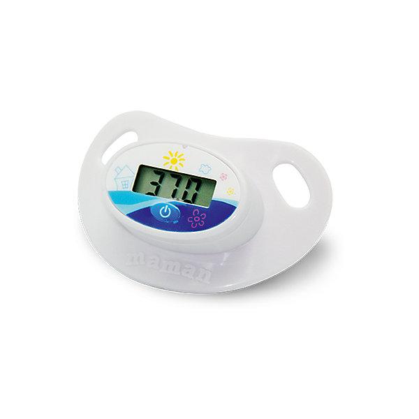 Термометр-пустышка Maman FDTH-V0-5Термометры<br>Легкое и комфортное измерение температуры тела у детей.<br>Предназначен для измерения температуры у детей.<br>Водонепроницаемый. <br>Звуковая сигнализация окончания измерения. <br>Тревожная сигнализация при температуре выше или равной 37,8оC. <br>Память последнего измерения.<br><br>Ширина мм: 40<br>Глубина мм: 100<br>Высота мм: 150<br>Вес г: 156<br>Возраст от месяцев: 0<br>Возраст до месяцев: 36<br>Пол: Унисекс<br>Возраст: Детский<br>SKU: 3375644