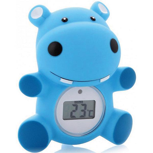 Термометр для воды Maman RT-17, бегемотикТермометры<br>Измерение температуры воды и комнатной температуры.<br> Может использоваться, как детская игрушка во время купания ребенка.<br> Встроенный индикатор - сигнал начинает мигать красным цветом, если вода слишком горячая для купания ребенка <br>(выше 39оС). <br> Диапазон измерений: <br>от 0 до 50 оС. <br> Три  варианта дизайна: бегемотик, утенок, цыплёнок. <br> Упакован в прозрачный блистер. <br>В комплекте дополнительная батарейка.<br>Ширина мм: 90; Глубина мм: 140; Высота мм: 195; Вес г: 191; Возраст от месяцев: 0; Возраст до месяцев: 36; Пол: Унисекс; Возраст: Детский; SKU: 3375646;