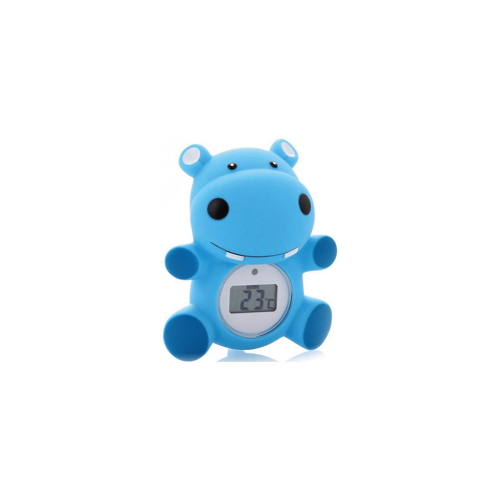 Термометр для воды Maman RT-17, бегемотикИзмерение температуры воды и комнатной температуры.<br> Может использоваться, как детская игрушка во время купания ребенка.<br> Встроенный индикатор - сигнал начинает мигать красным цветом, если вода слишком горячая для купания ребенка <br>(выше 39оС). <br> Диапазон измерений: <br>от 0 до 50 оС. <br> Три  варианта дизайна: бегемотик, утенок, цыплёнок. <br> Упакован в прозрачный блистер. <br>В комплекте дополнительная батарейка.<br><br>Ширина мм: 90<br>Глубина мм: 140<br>Высота мм: 195<br>Вес г: 191<br>Возраст от месяцев: 0<br>Возраст до месяцев: 36<br>Пол: Унисекс<br>Возраст: Детский<br>SKU: 3375646