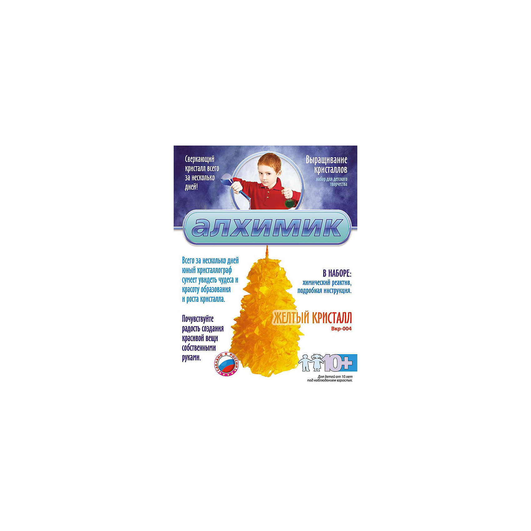 Выращивание кристаллов Желтый кристалл, LORIВыращивание кристаллов Желтый кристалл, LORI станет самым интересным занятием для Вашего малыша!<br>Выращивание кристаллов - самый массовый и самый популярный вид химических опытов для детей. С помощью данных наборов можно вырастить крупные кристаллы голубого, белого, малинового и желтого цвета. Суть выращивания в наблюдении кристаллизации вещества из насыщенного соляного раствора.<br><br>Дополнительная информация:<br><br>Размер: 155х120х45 мм.<br><br>Вес: 229 г.<br><br>Станет прекрасным развивающим подарком Вашему малышу!<br>Легко купить в нашем интернет-магазине!<br><br>Ширина мм: 155<br>Глубина мм: 120<br>Высота мм: 45<br>Вес г: 229<br>Возраст от месяцев: 120<br>Возраст до месяцев: 180<br>Пол: Унисекс<br>Возраст: Детский<br>SKU: 3376765