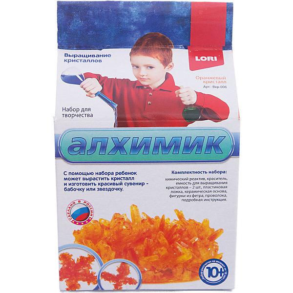 Выращивание кристаллов Оранжевый кристалл, LORIВыращивание кристаллов<br>Выращивание кристаллов Оранжевый кристалл, LORI станет самым интересным занятием для Вашего малыша!<br>Выращивание кристаллов - самый массовый и самый популярный вид химических опытов для детей. С помощью данных наборов можно вырастить друзу  кристаллов зеленого, оранжевого, красного и синего цвета, а так же вырастить красивый цветной кристаллический сувенир - бабочку или звездочку, с помощью кусочка фетра, который вложен в набор. Суть выращивания в наблюдении кристаллизации вещества из насыщенного соляного раствора.<br><br>Дополнительная информация:<br><br>Размер: 190х110х90 мм.<br><br>Вес: 295 г.<br><br>Станет прекрасным развивающим подарком Вашему малышу!<br>Легко купить в нашем интернет-магазине!<br><br>Ширина мм: 190<br>Глубина мм: 110<br>Высота мм: 90<br>Вес г: 295<br>Возраст от месяцев: 120<br>Возраст до месяцев: 180<br>Пол: Унисекс<br>Возраст: Детский<br>SKU: 3376767