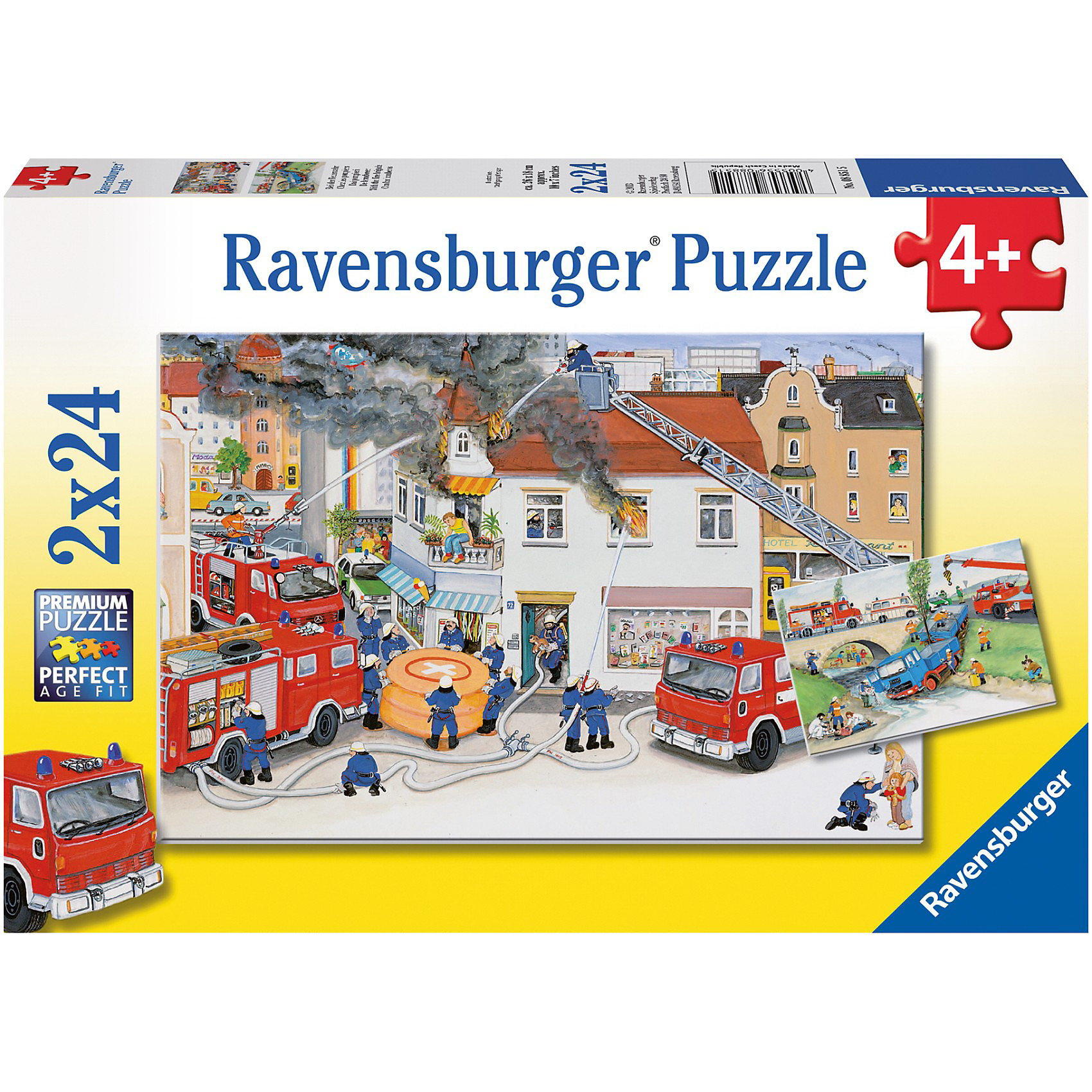 Ravensburger Набор пазлов «Пожарная бригада» 2х24 детали, Ravensburger ravensburger ravensburger набор для творчества mandala designer балерины