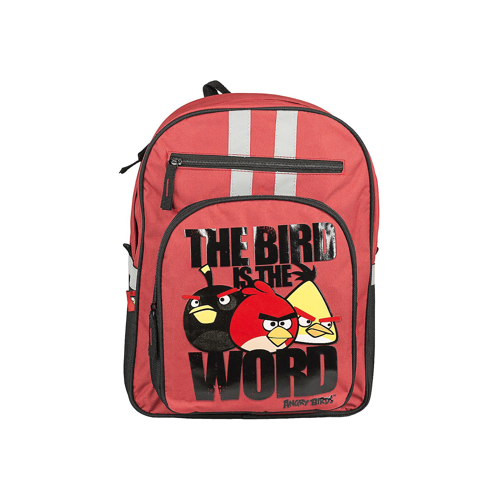 Школьный рюкзак, Angry BirdsРюкзак Angry Birds (Злые Птички) имеет большой внутренний объем и два удобных плечевых ремня регулируемой длины.<br><br>Дополнительная информация:<br><br>  Размер 38 х 29 х 15 см.<br><br>Angry Birds  Рюкзак можно купить в нашем магазине.<br><br>Ширина мм: 310<br>Глубина мм: 150<br>Высота мм: 410<br>Вес г: 619<br>Возраст от месяцев: 72<br>Возраст до месяцев: 144<br>Пол: Унисекс<br>Возраст: Детский<br>SKU: 3377335