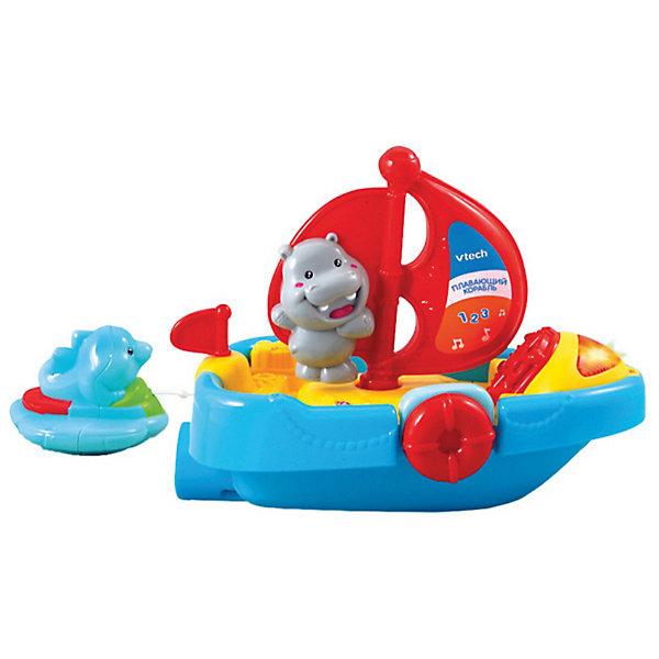 Игрушка для ванной Спасательный катер, VtechКорабли и лодки<br>Игрушка для ванной Спасательный катер, Vtech (Втеч).<br><br>Характеристики:<br><br>• Для детей от 1 года<br>• Комплектация: катер с дельфином на спасательном круге<br>• Размер катера: 21х17,5х11,5 см.<br>• Материал: пластик<br>• Обучение: фигуры, цифры, названия животных<br>• Песня из мультфильма «Мама для мамонтенка»<br>• Батарейки: 2 типа ААА (в комплекте демонстрационные)<br>• Упаковка: красочная подарочная коробка<br>• Размер упаковки: 25,5х21,5х13 см.<br><br>Спасательный катер от французской компании Vtech – увлекательная игрушка для ванны, с которой купание вашего малыша будет не только веселым, но и познавательным! <br><br>Благодаря водонепроницаемому корпусу с игрушкой можно играть в воде. При повороте паруса и нажатии на спасательный круг малыш услышит веселую песенку из мультфильма и обучающие фразы, которые расскажут ему, как называются животные, цифры и фигуры. <br><br>За катером плавает очаровательный дельфин на спасательном круге. Немного оттянув его, малыш с радостью увидит, как дельфин догоняет катер. Предусмотрен таймер автоматического отключения. Игрушка изготовлена из прочного безопасного не бьющегося пластика. Продается в красочной коробке и идеально подходит в качестве подарка.<br><br>Игрушку для ванной Спасательный катер, Vtech (Втеч) можно купить в нашем интернет-магазине.<br><br>Ширина мм: 220<br>Глубина мм: 130<br>Высота мм: 260<br>Вес г: 850<br>Возраст от месяцев: 12<br>Возраст до месяцев: 36<br>Пол: Унисекс<br>Возраст: Детский<br>SKU: 3380329