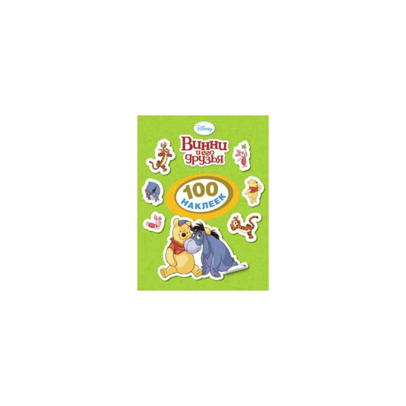 Винни и его друзья, 100 наклеек, Winnie the PoohГерои популярных диснеевских мультфильмов в наклейках! Ребенок может собрать целую серию мини-альбомов со 100 наклейками в каждом. <br><br>В этом альбоме - целых 100 ярких наклеек! <br>Укрась портретами персонажей комнату, тетради и игрушки!<br><br>Серия:100 наклеек <br>Обложка: Мягкая <br>Объем:8стр.<br><br>Ширина мм: 150<br>Глубина мм: 2<br>Высота мм: 200<br>Вес г: 30<br>Возраст от месяцев: 36<br>Возраст до месяцев: 72<br>Пол: Унисекс<br>Возраст: Детский<br>SKU: 3381915